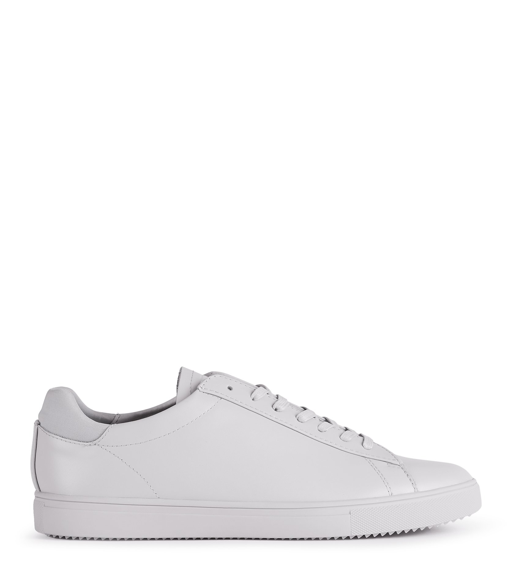 Reiss Grey Clae Leather Sneakers