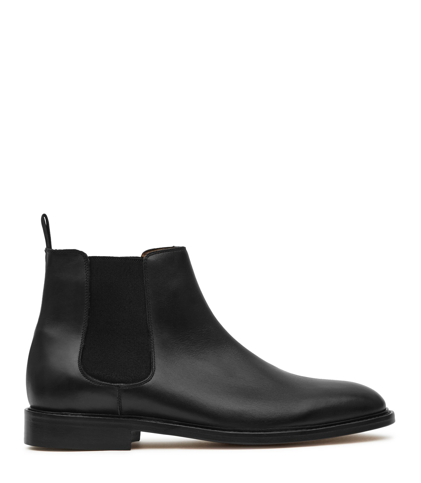 Reiss Black Tenor Leather Leather Chelsea Boots