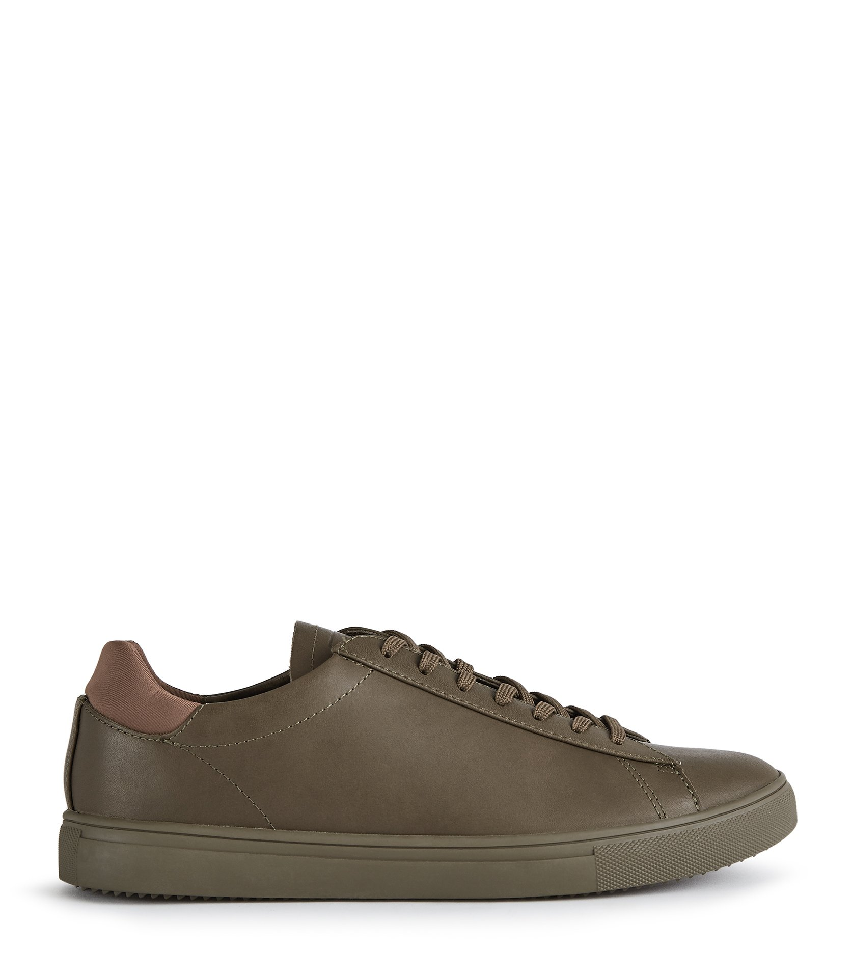 Reiss Olive Bradley Clae Leather Sneakers