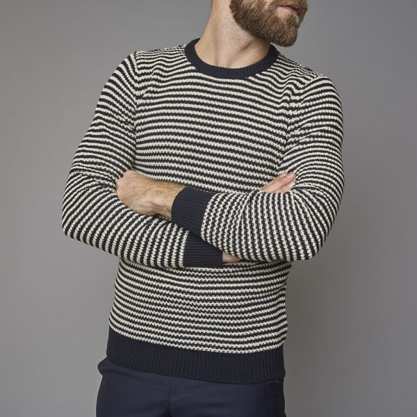 Suit Navy/White Stripe Regular Fit Jumper