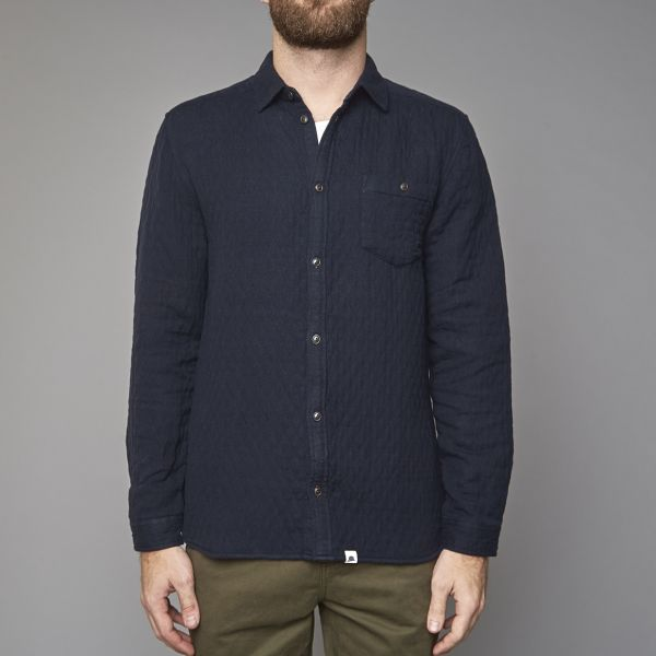 Suit Navy Quilted Shirt