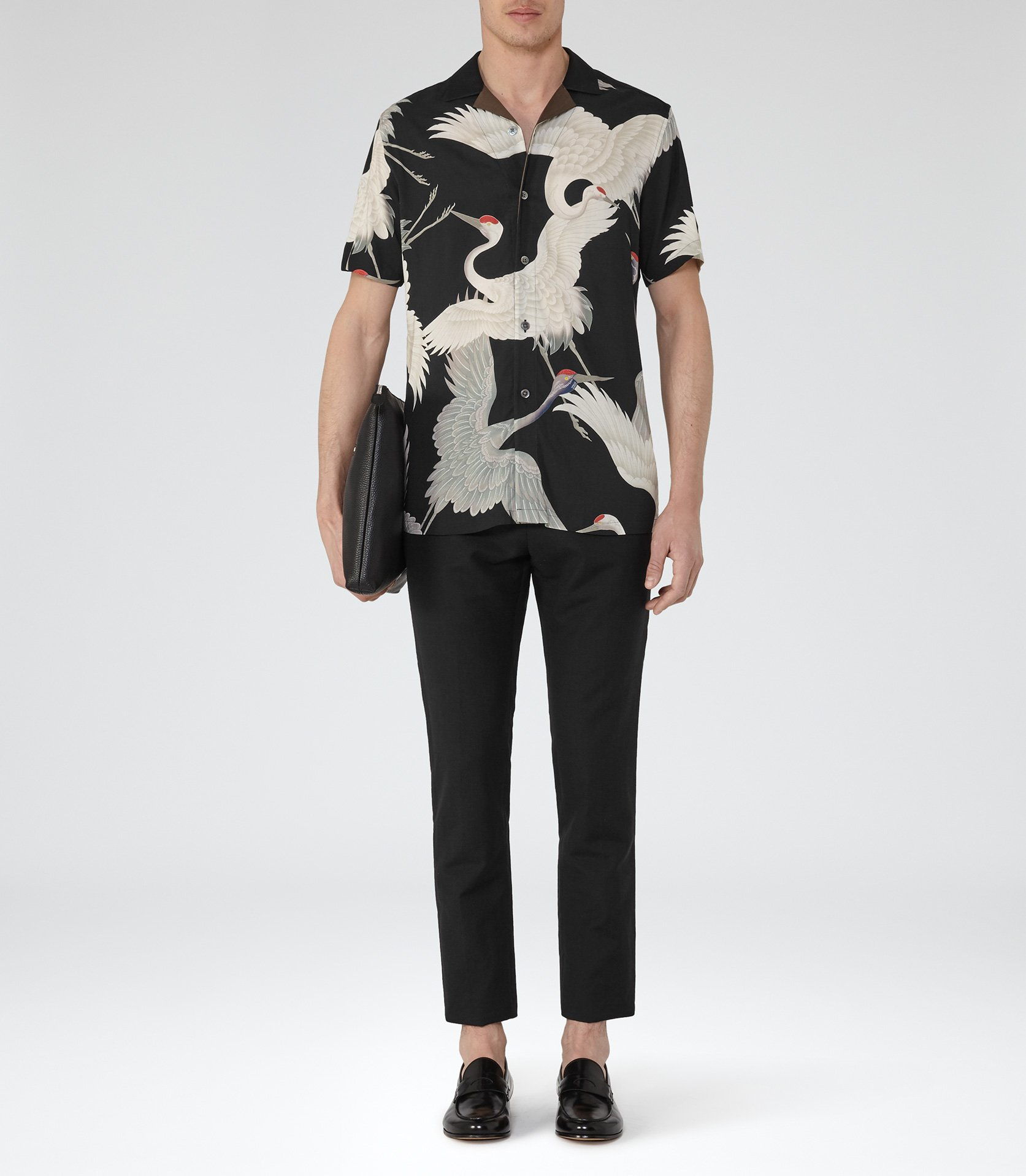 a4724eab8e Gigi Printed Cuban Collar Shirt by Reiss