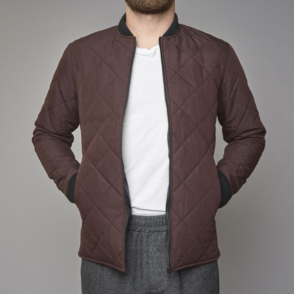 Suit Plum Quilted Jacket