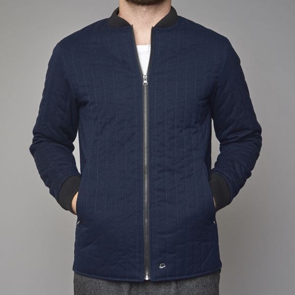 Suit Navy Quilted Jacket