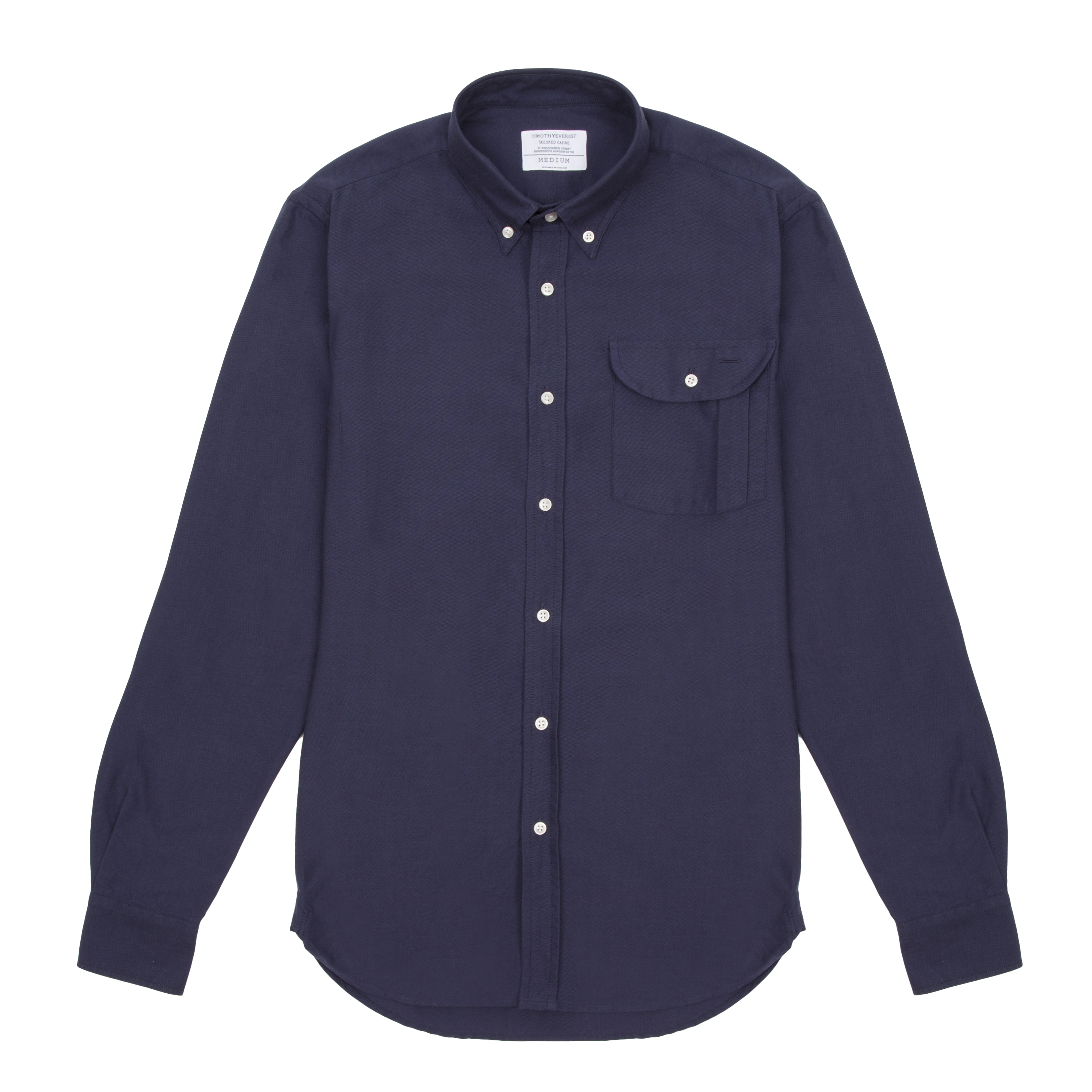 Timothy Everest Indigo Oxford Pen Pocket Shirt