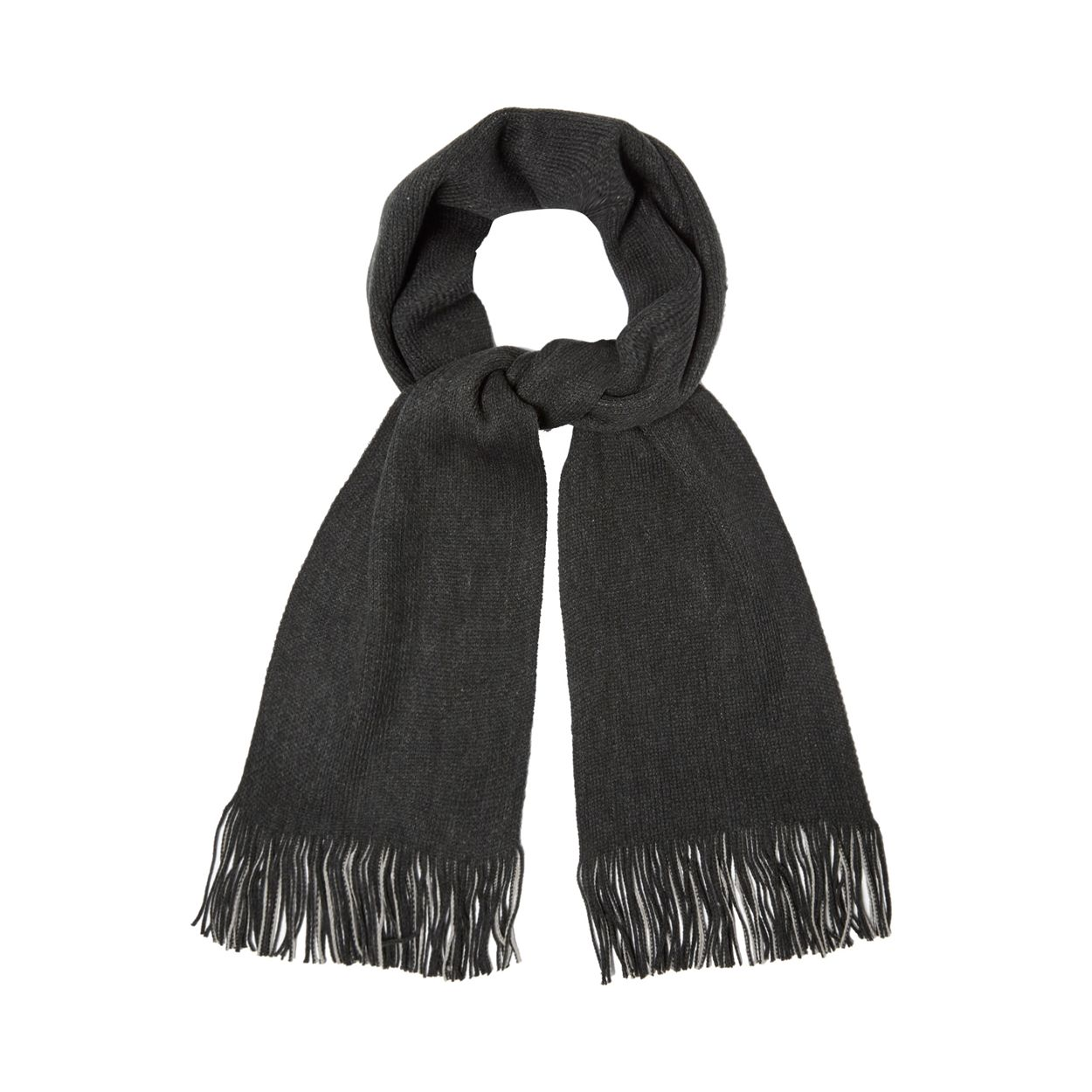 Red Herring Grey reversible twisted scarf