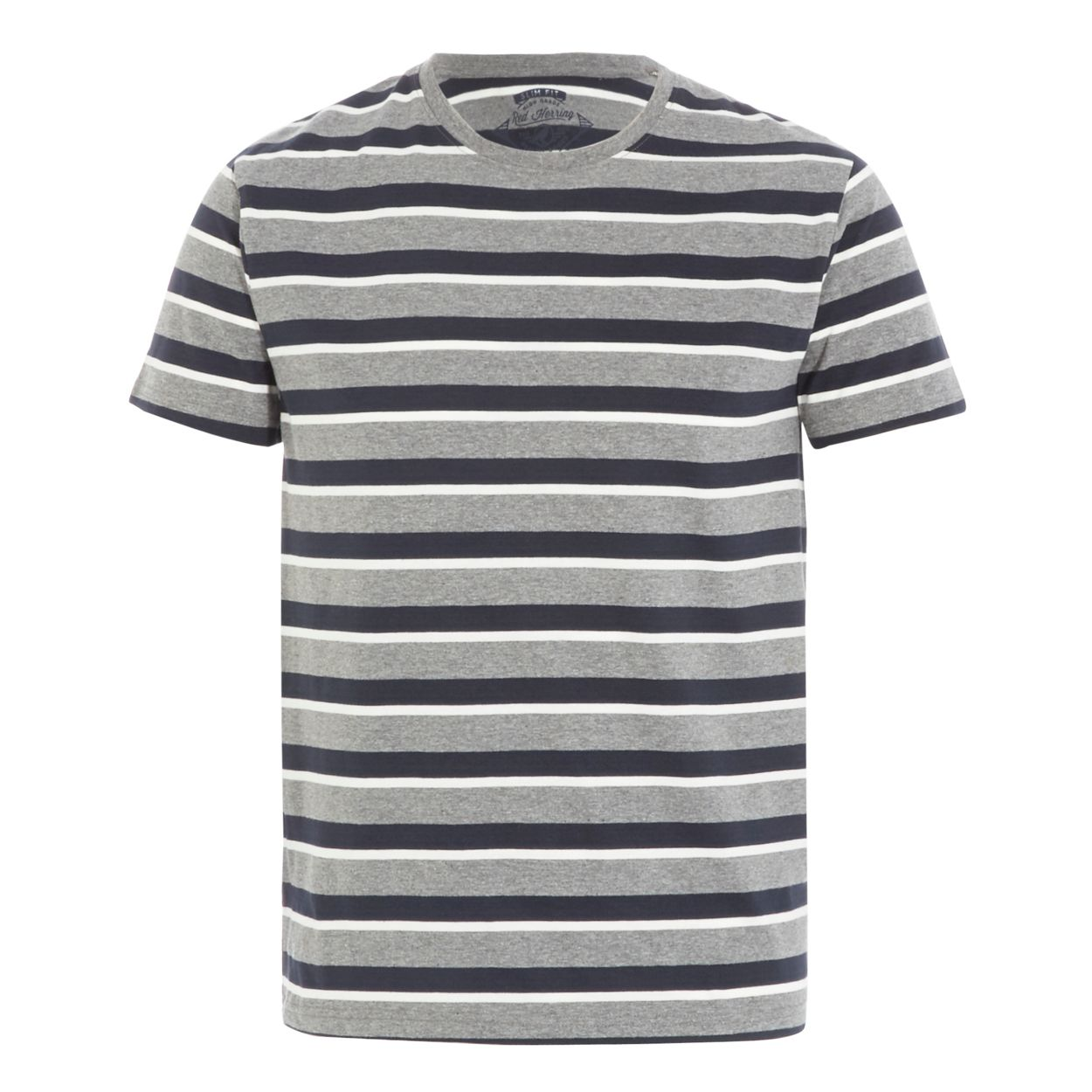 Red Herring Navy and grey stripe t-shirt