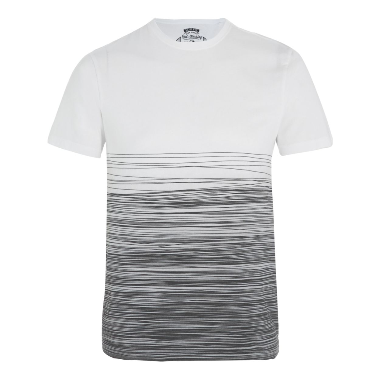 Red Herring White and grey striped slim fit t-shirt