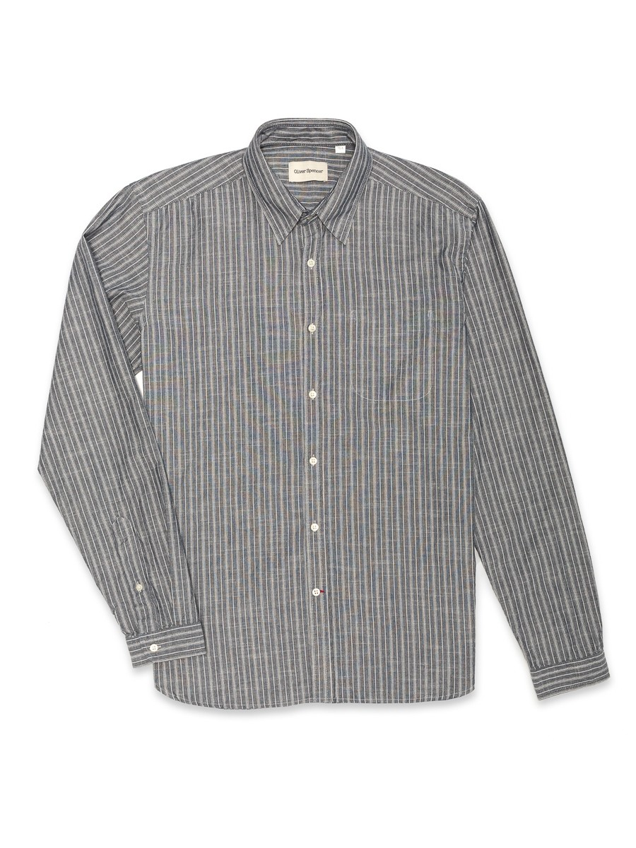 Oliver Spencer New York Special Shirt Lea Navy