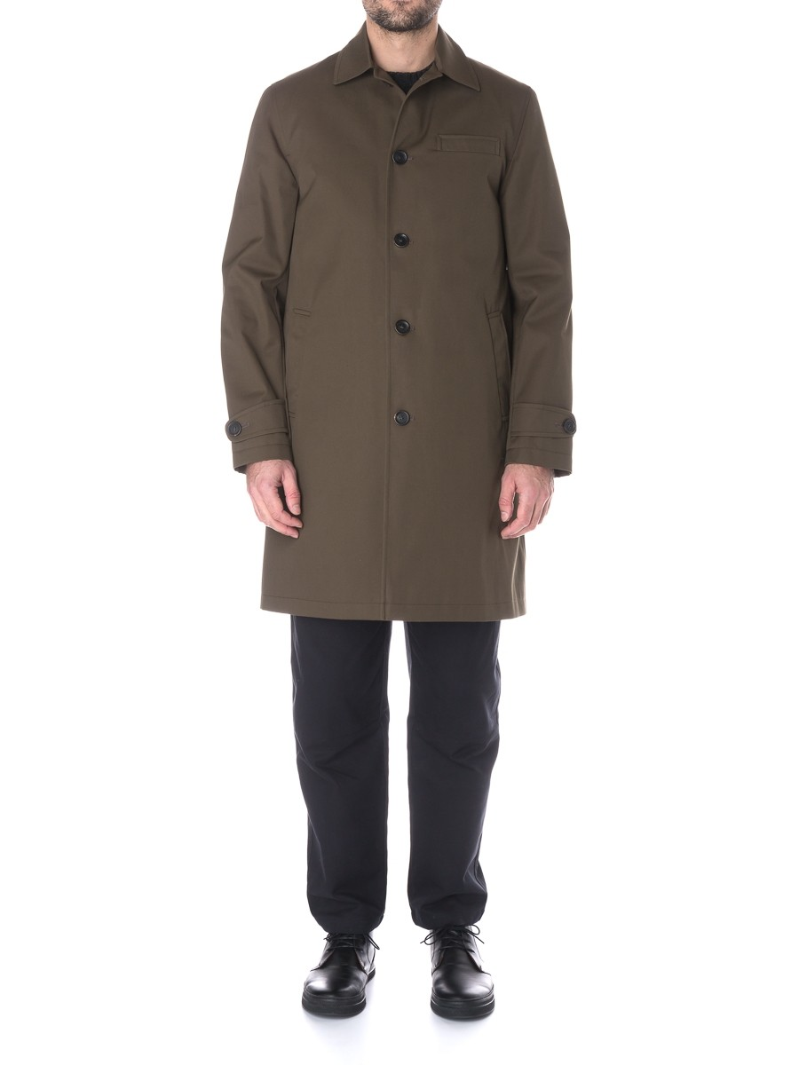 Oliver Spencer Beaumont Coat Wentworth Olive Green
