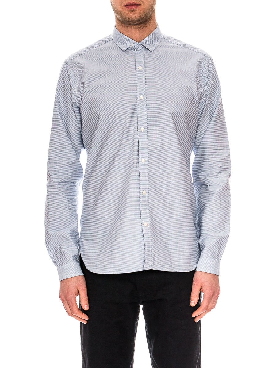 Oliver Spencer Clerkenwell Tab Shirt Broadstone Sky