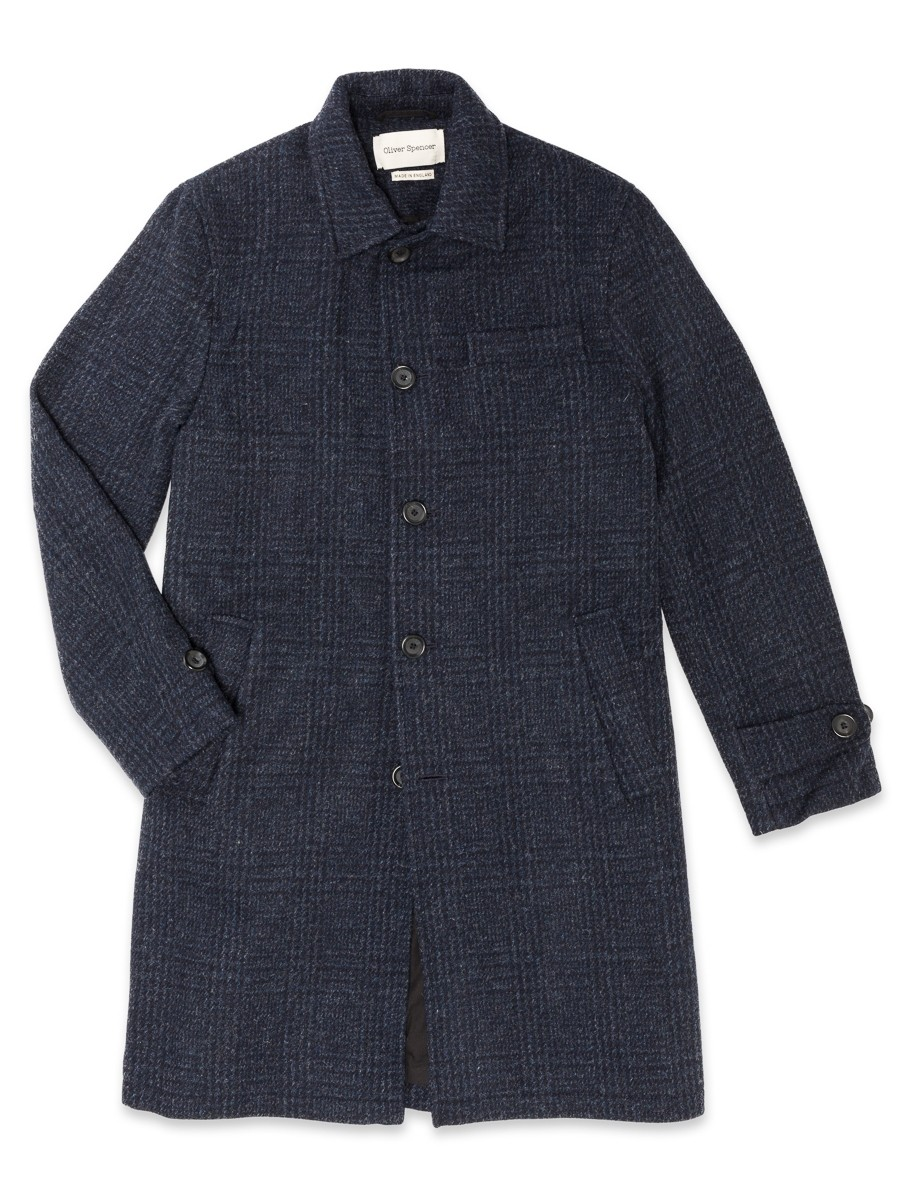 Oliver Spencer Beaumont Coat Baker Midnight