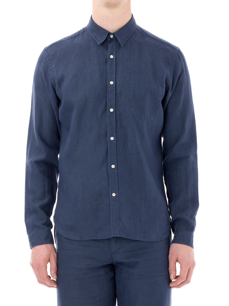 Oliver Spencer New York Special Shirt Linton Navy OSMS200C-LIN01NAV