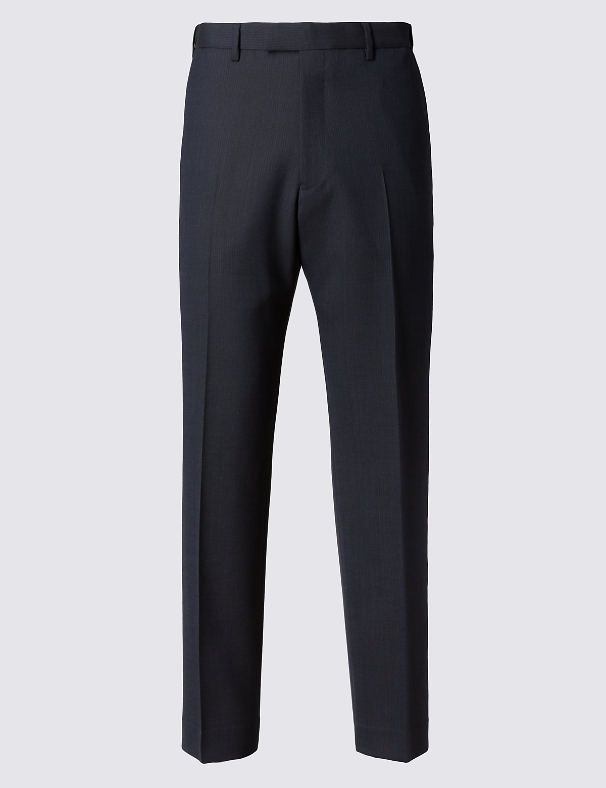 Marks & Spencer Navy Striped Slim Fit Trousers