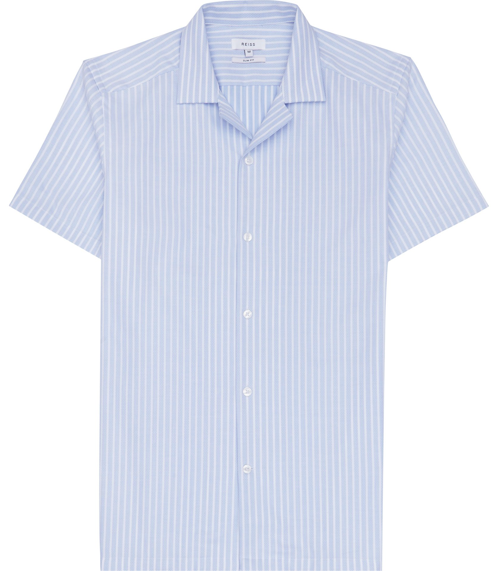 Reiss Light Blue Vixen Textured Stripe Shirt