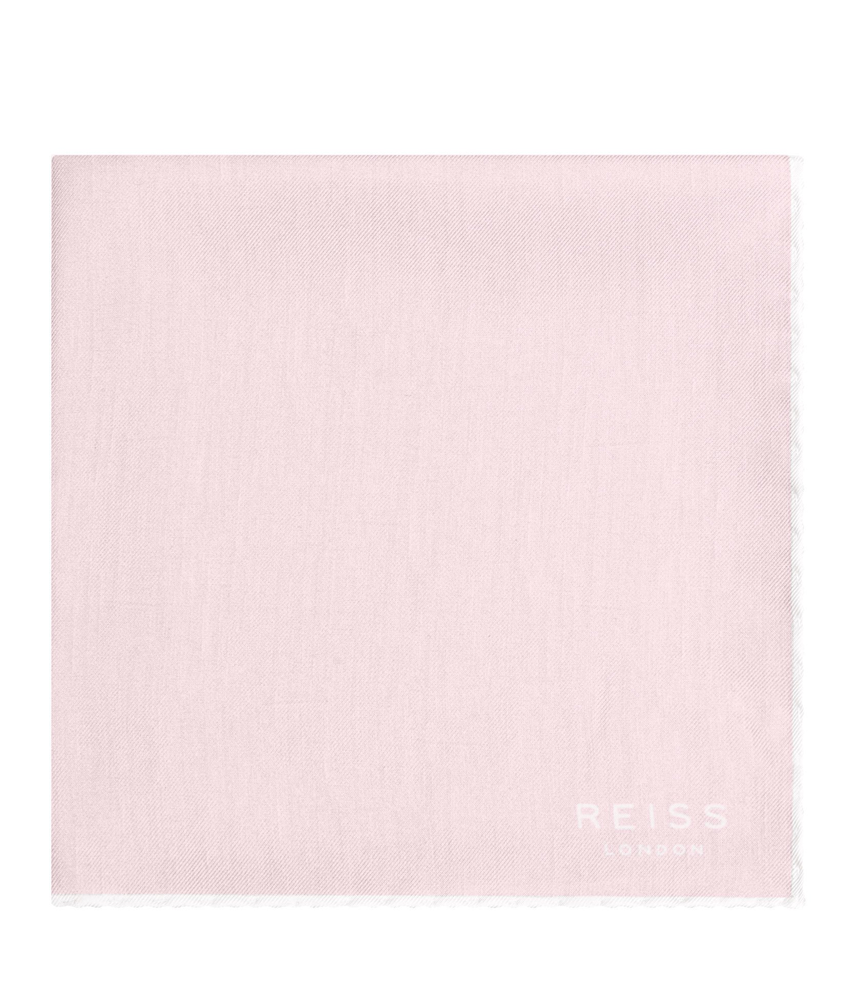 Reiss Soft Pink Fernando Silk Pocket Square