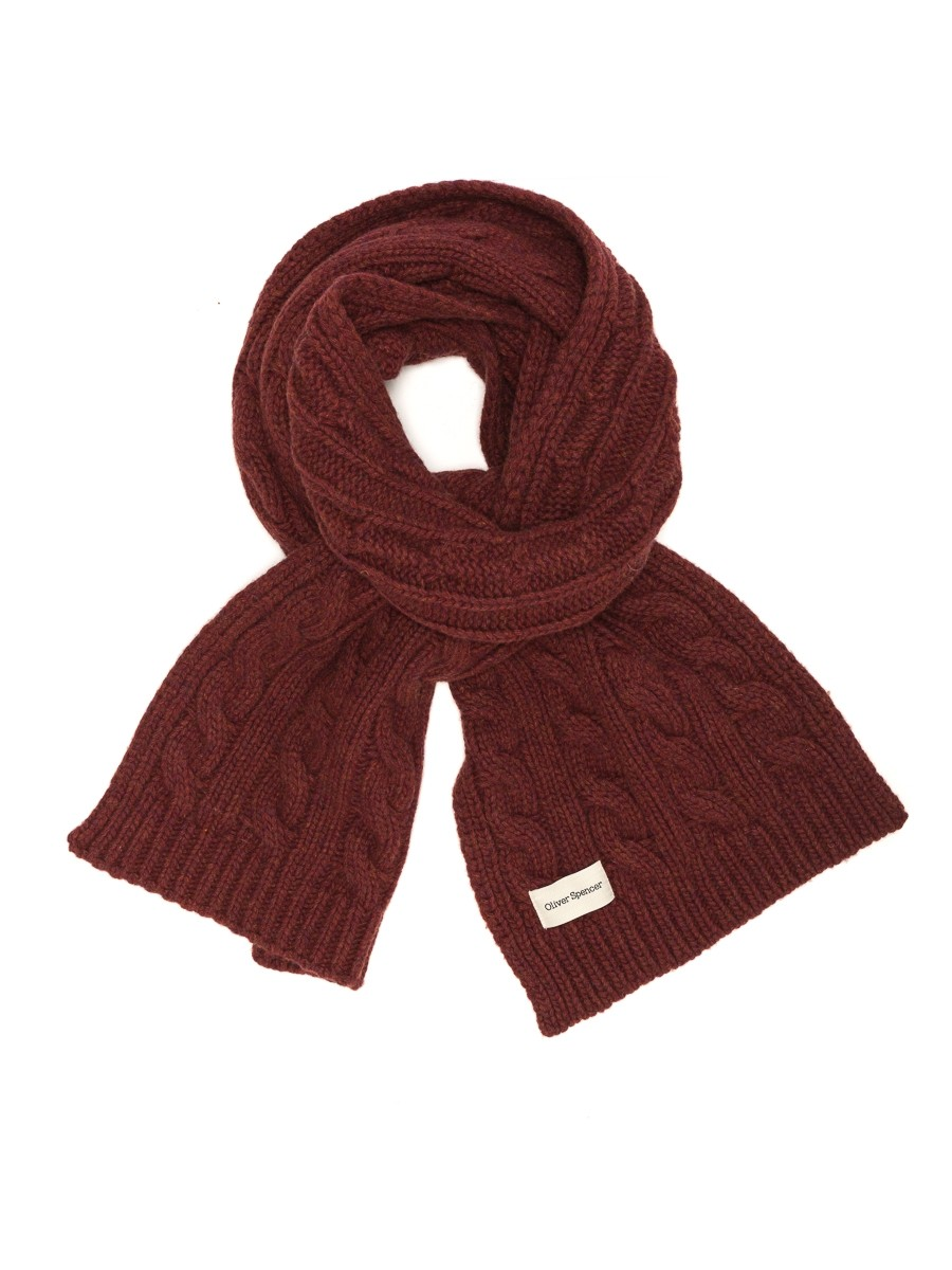 Oliver Spencer Arbury Scarf Cable Rust