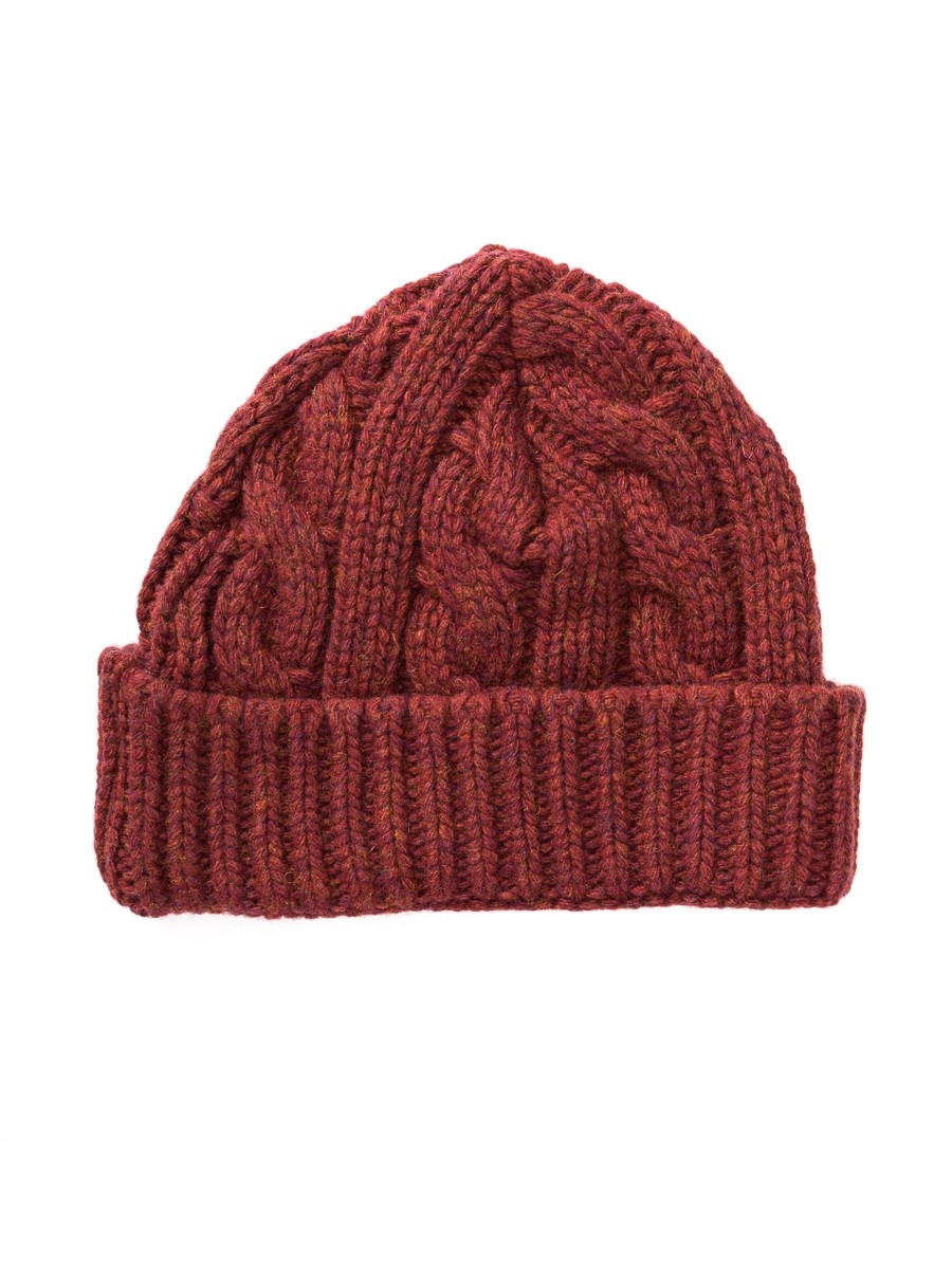 Oliver Spencer Arbury Hat Cable Rust