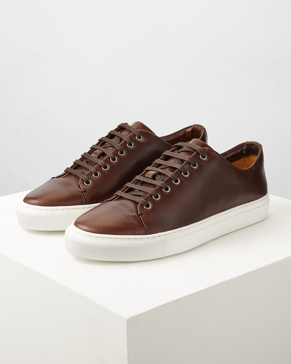 Jigsaw Dark Brown Campbell Leather Trainers