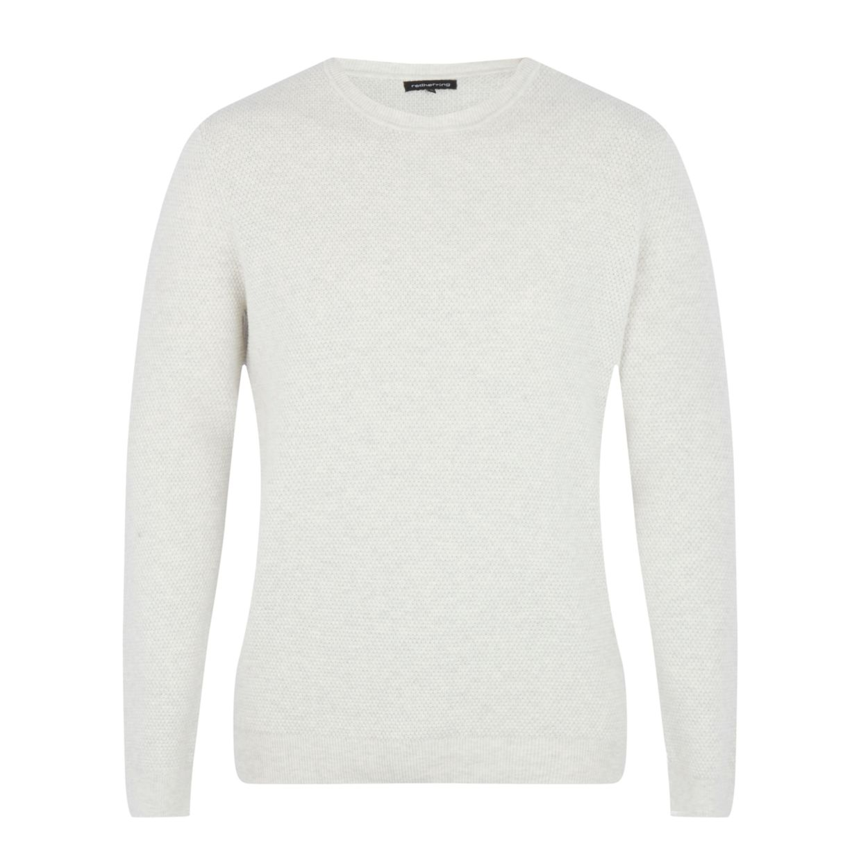 Red Herring Off white textured yoke jumper