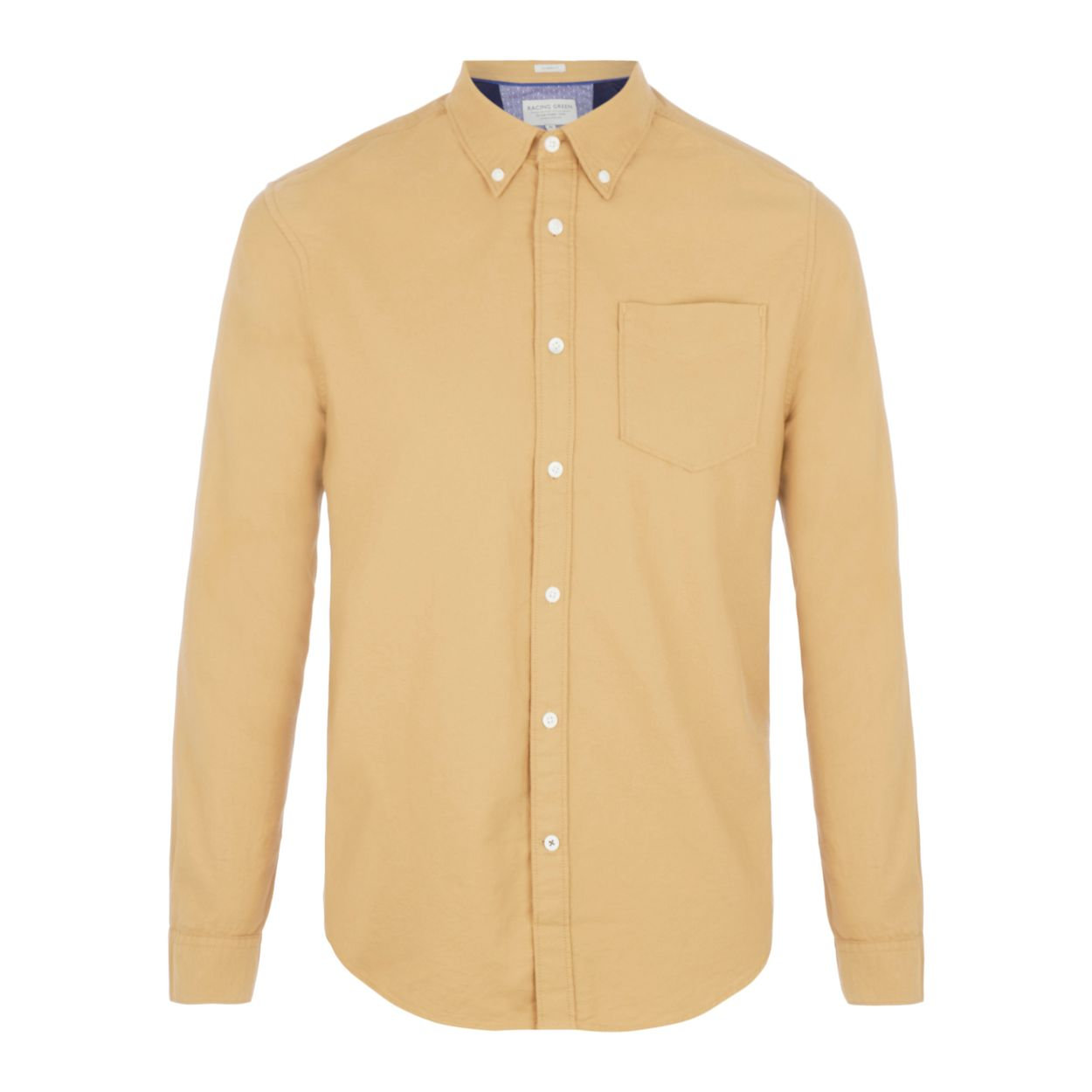 Racing Green Light tan Oxford shirt