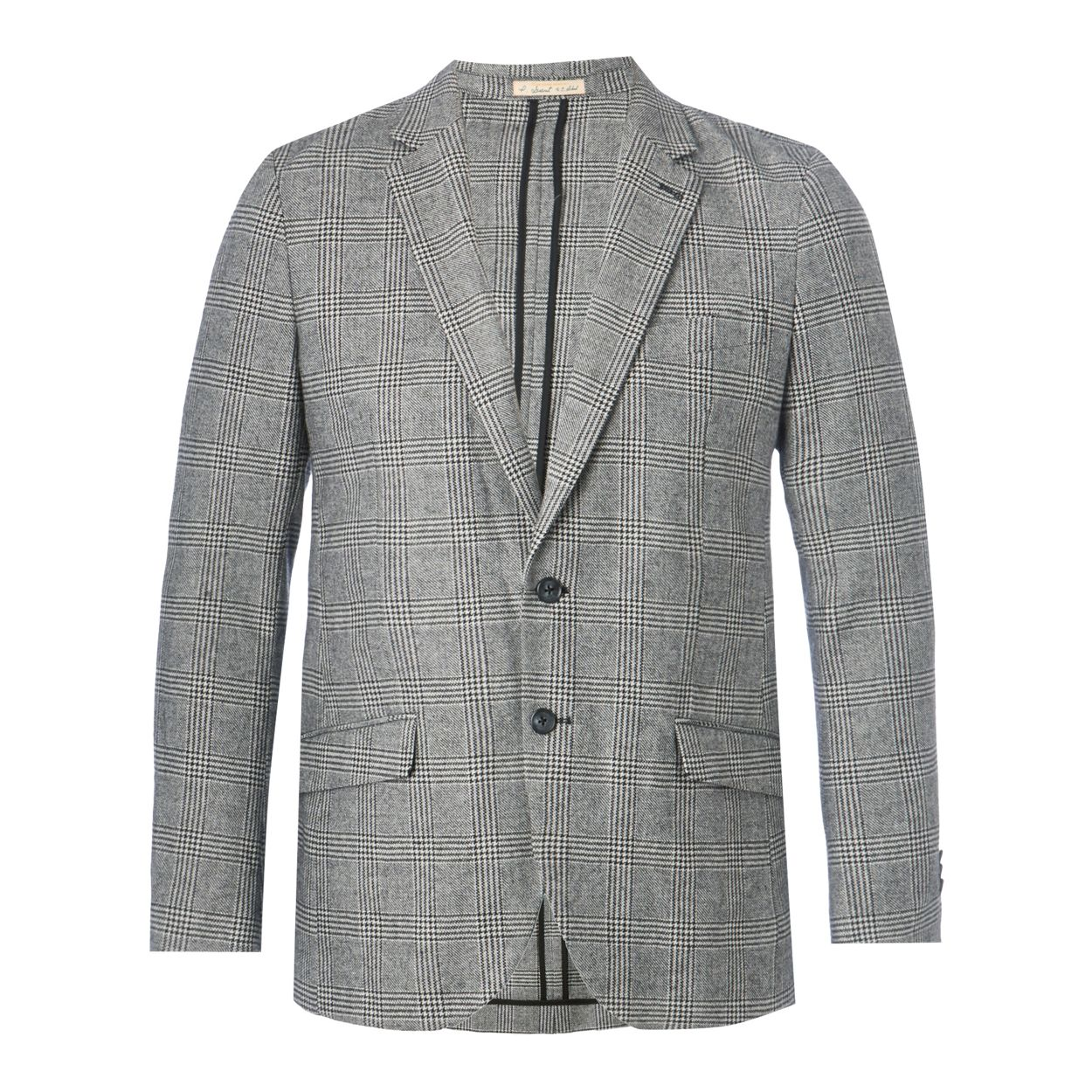 Hammond & Co. by Patrick Grant Grey Prince of Wales checked wool blend jacket