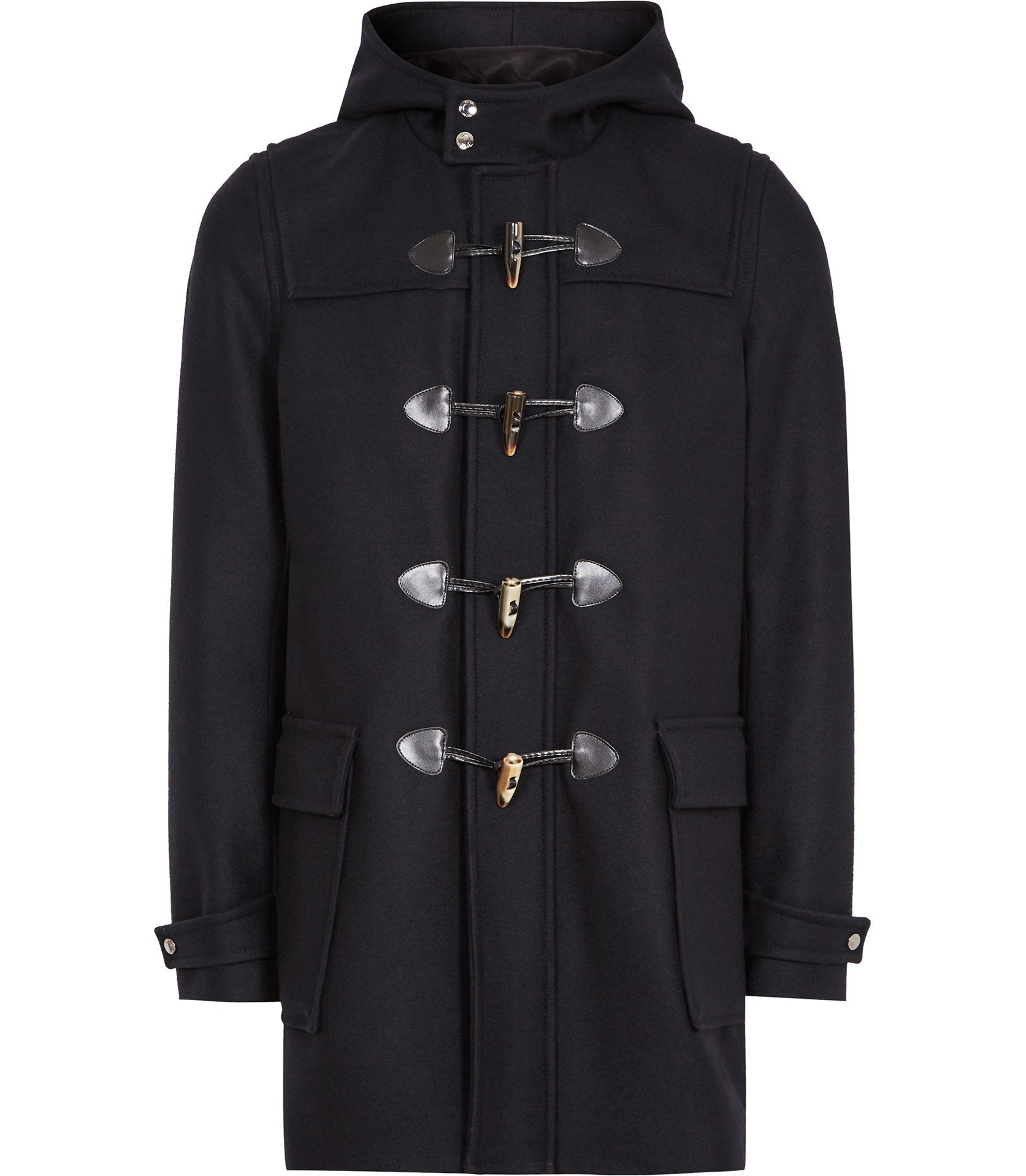 Reiss Navy Samuel Hooded Duffle Coat
