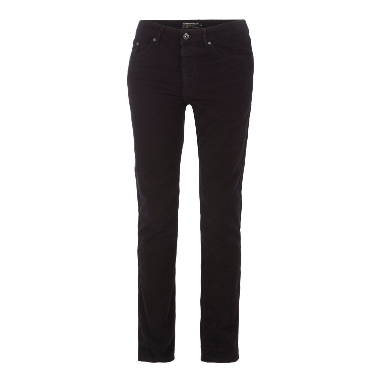 Hammond & Co. by Patrick Grant Black moleskin tailored fit trousers