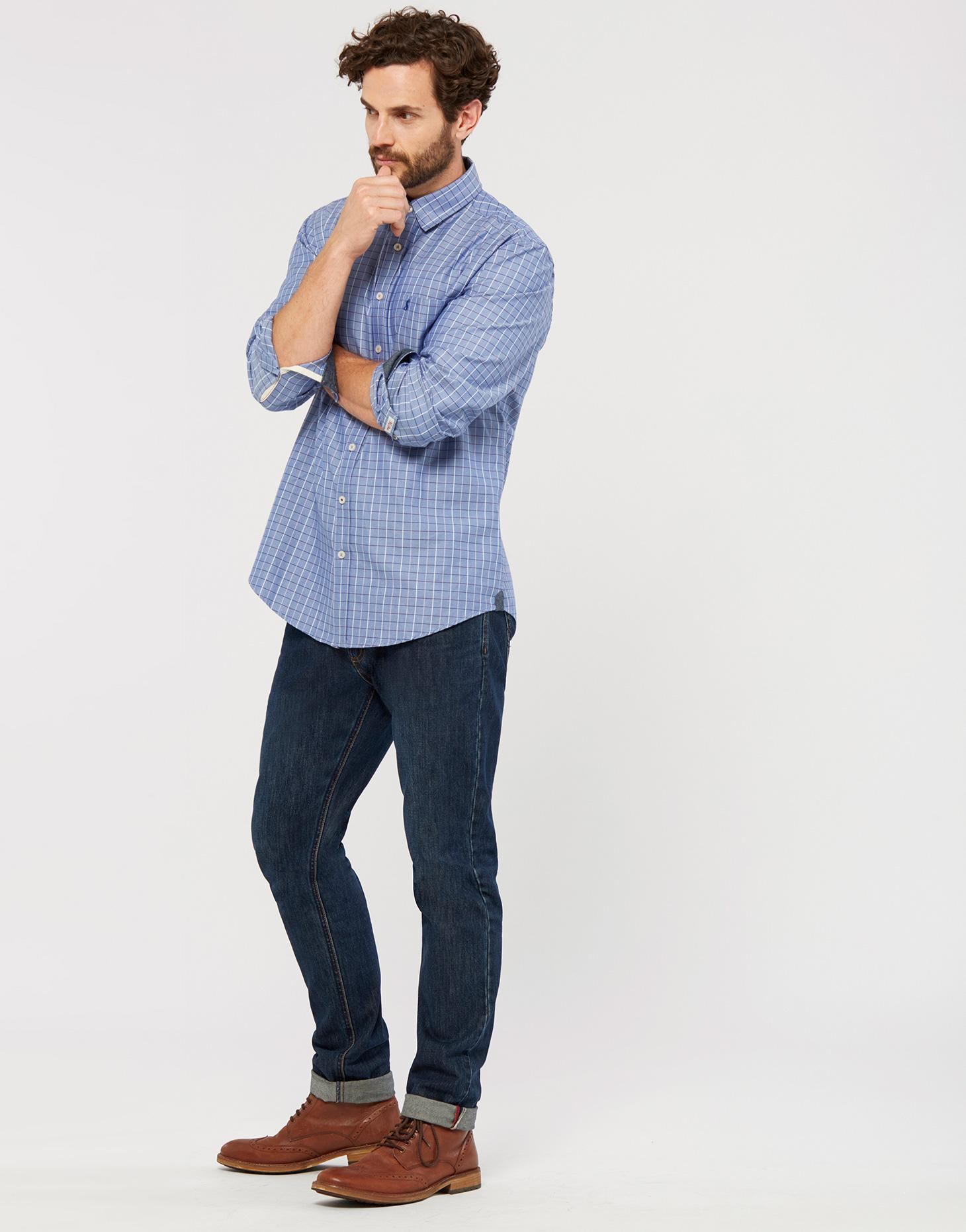 Joules Blue Check WILBY Classic Fit Shirt