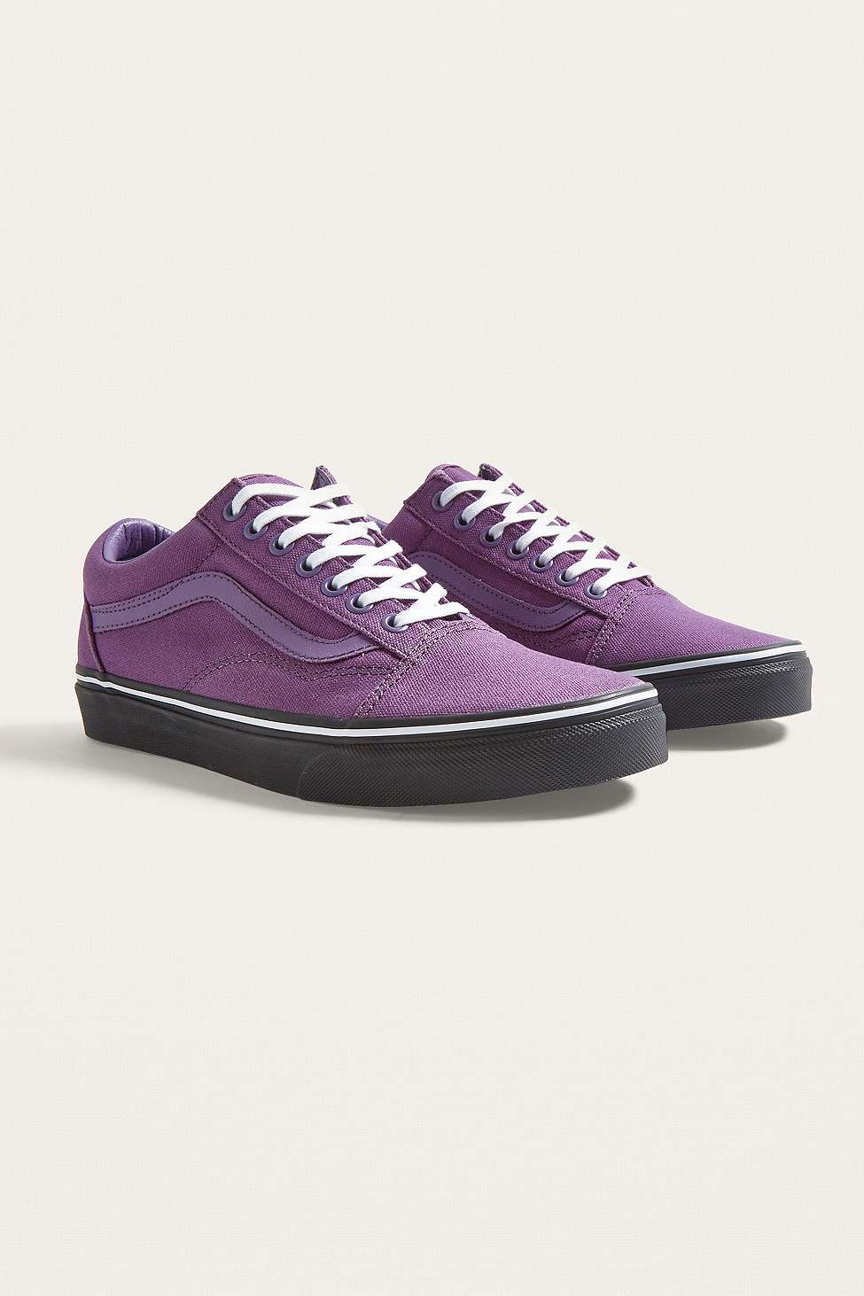 vans old skool purple black