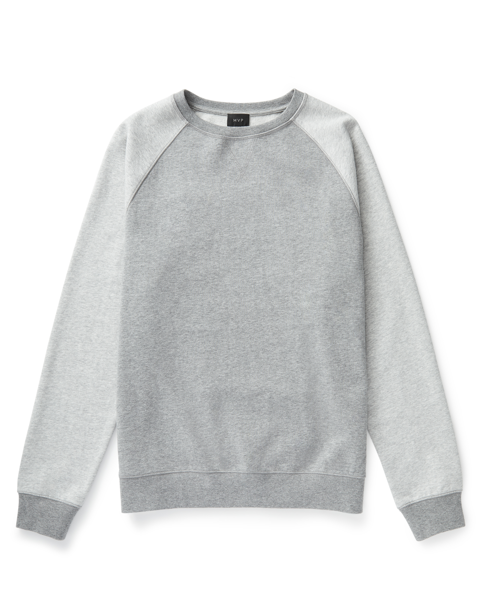 MVP Hartley Raglan Colour Block Sweat - Grey Melange