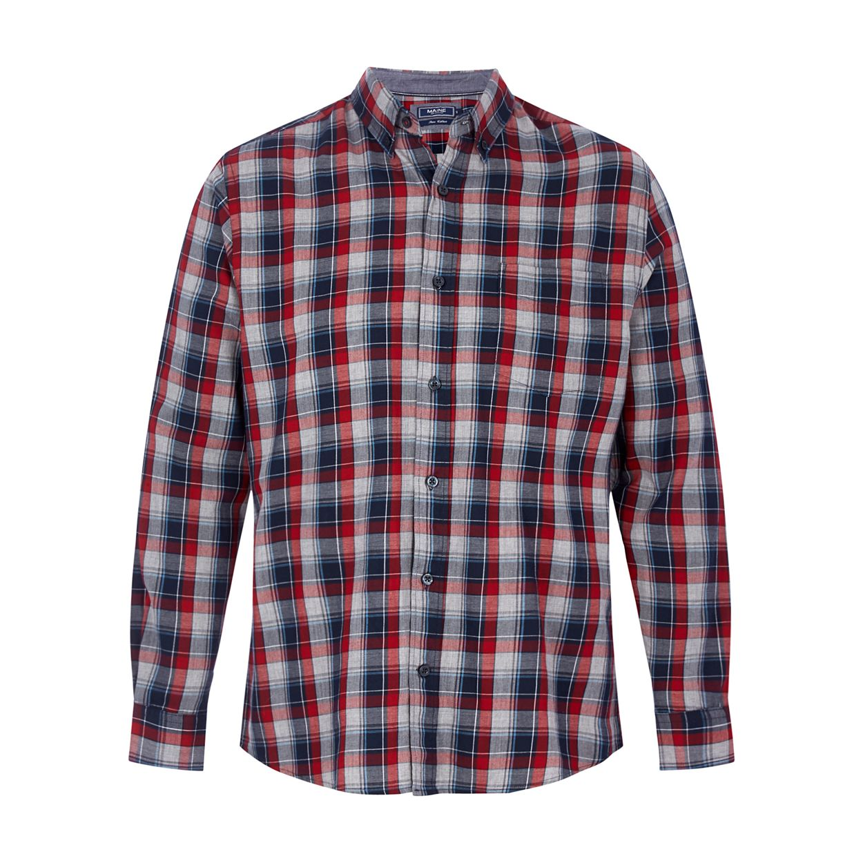 Maine New England Navy Multi-coloured checked shirt