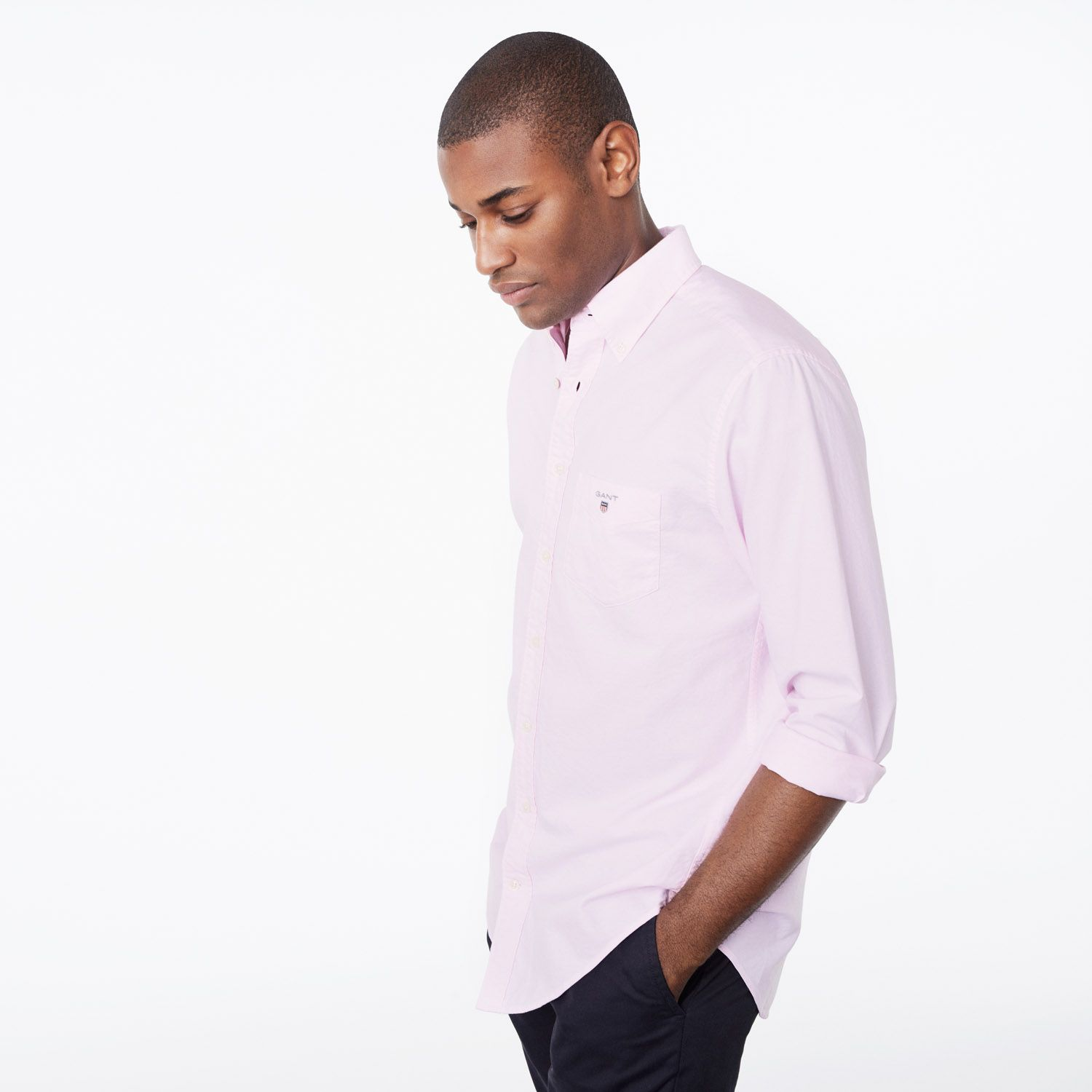 GANT Light Pink Regular Fit Oxford Shirt