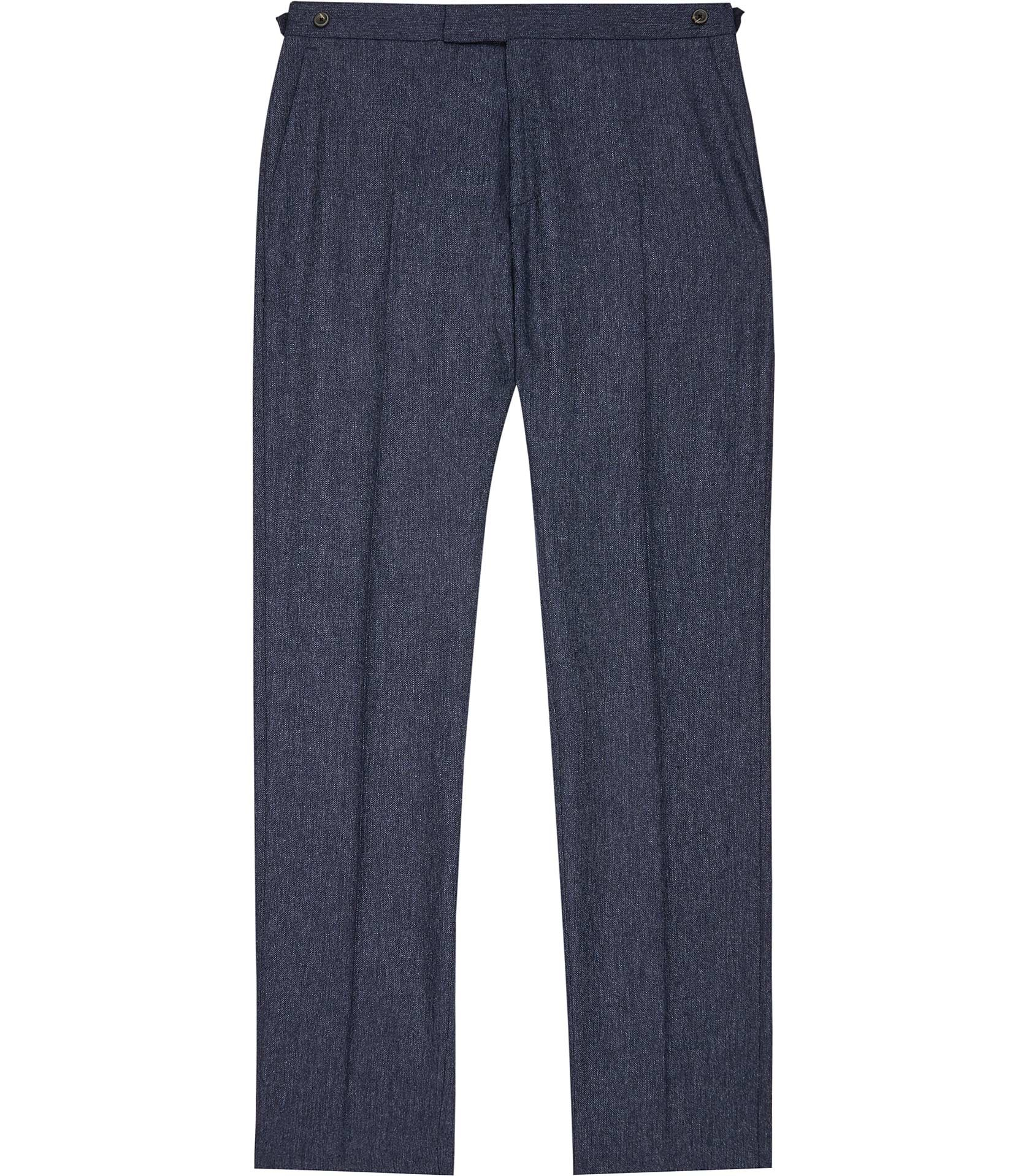 Reiss Airforce Blue Reynolds T Donegal Modern-Fit Trousers