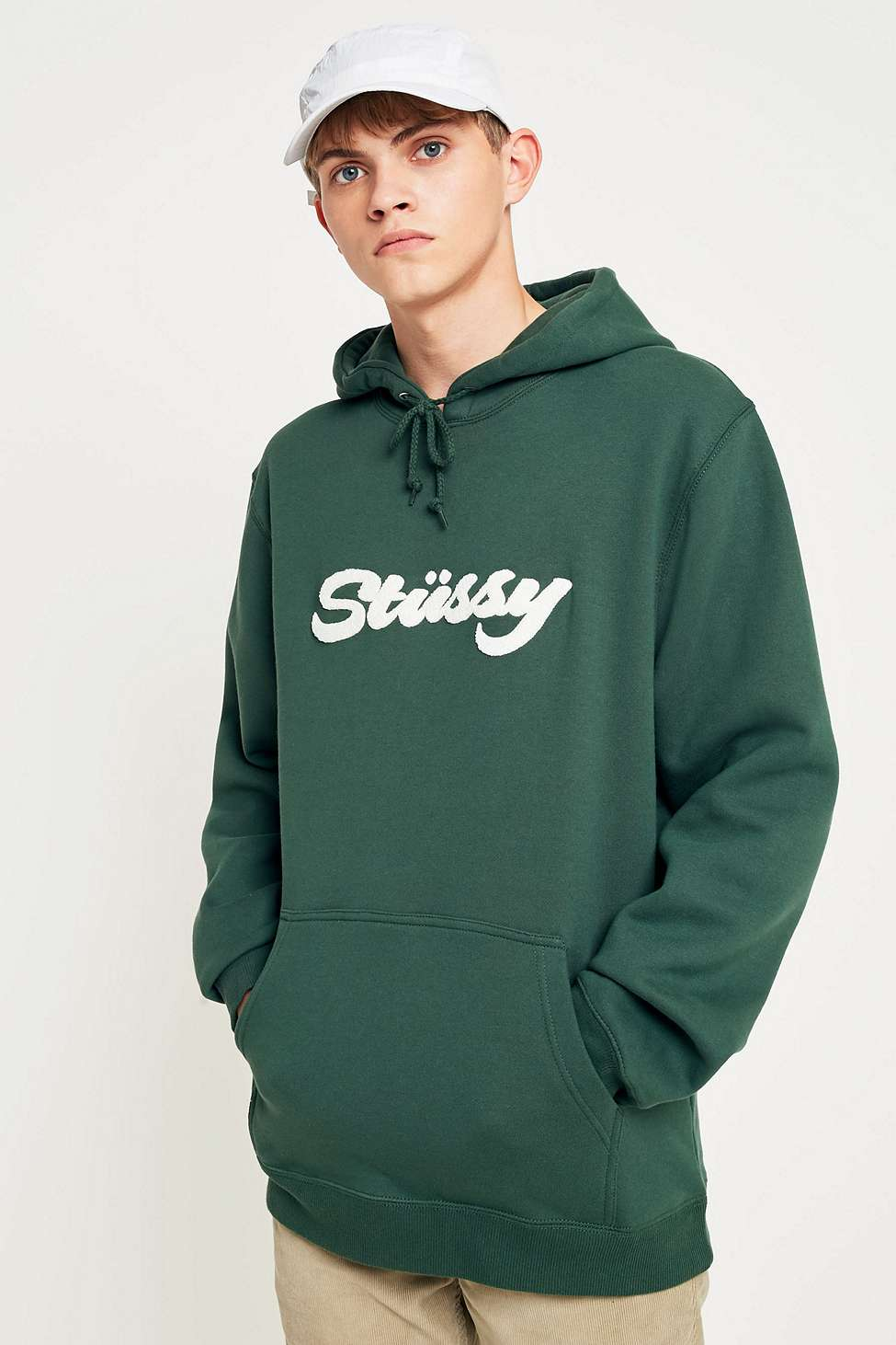 4b29948fab Stussy Chenille Applique Moss Hoodie by Stussy