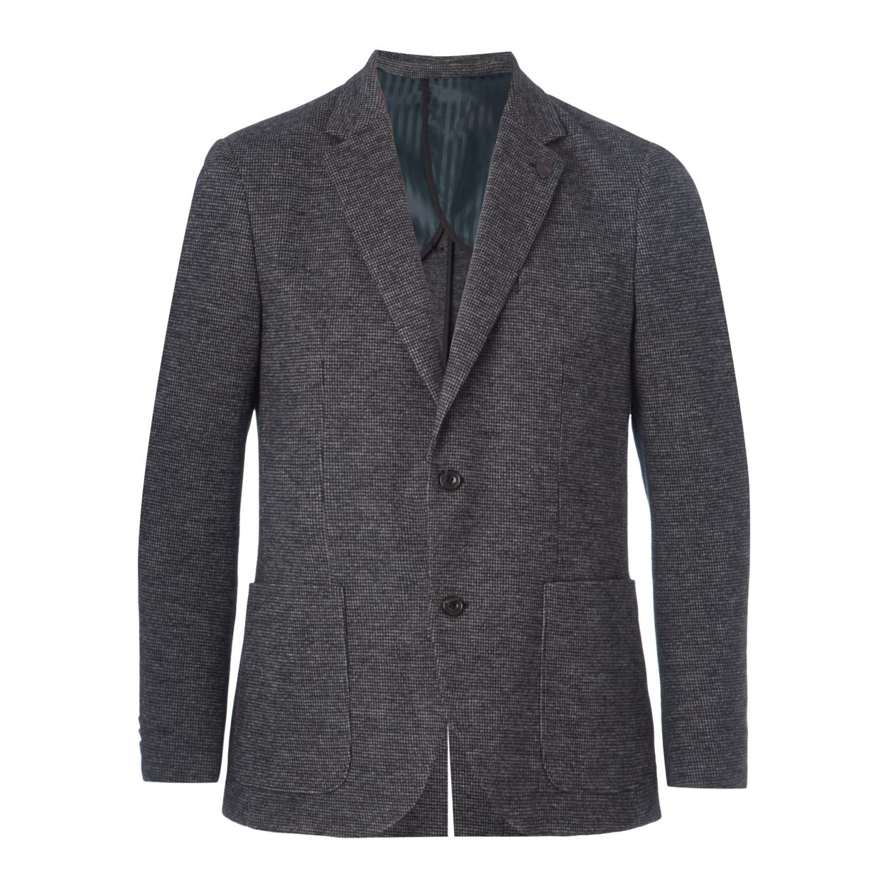 Hammond & Co. by Patrick Grant Grey hounds tooth jacket with wool
