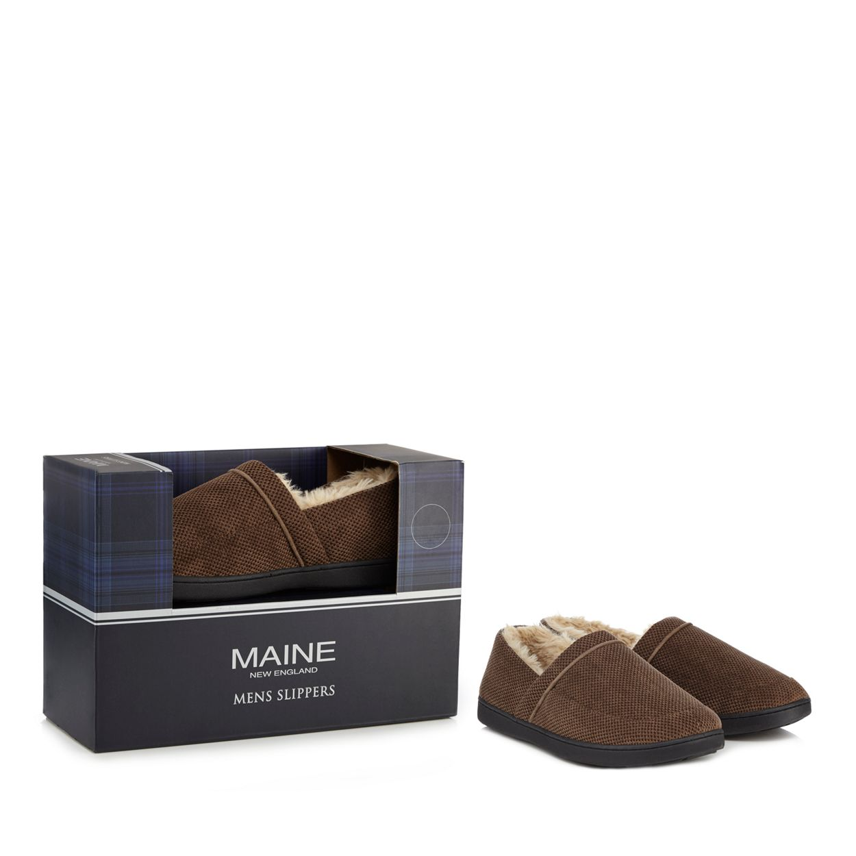 Maine New England Beige slippers in a gift box