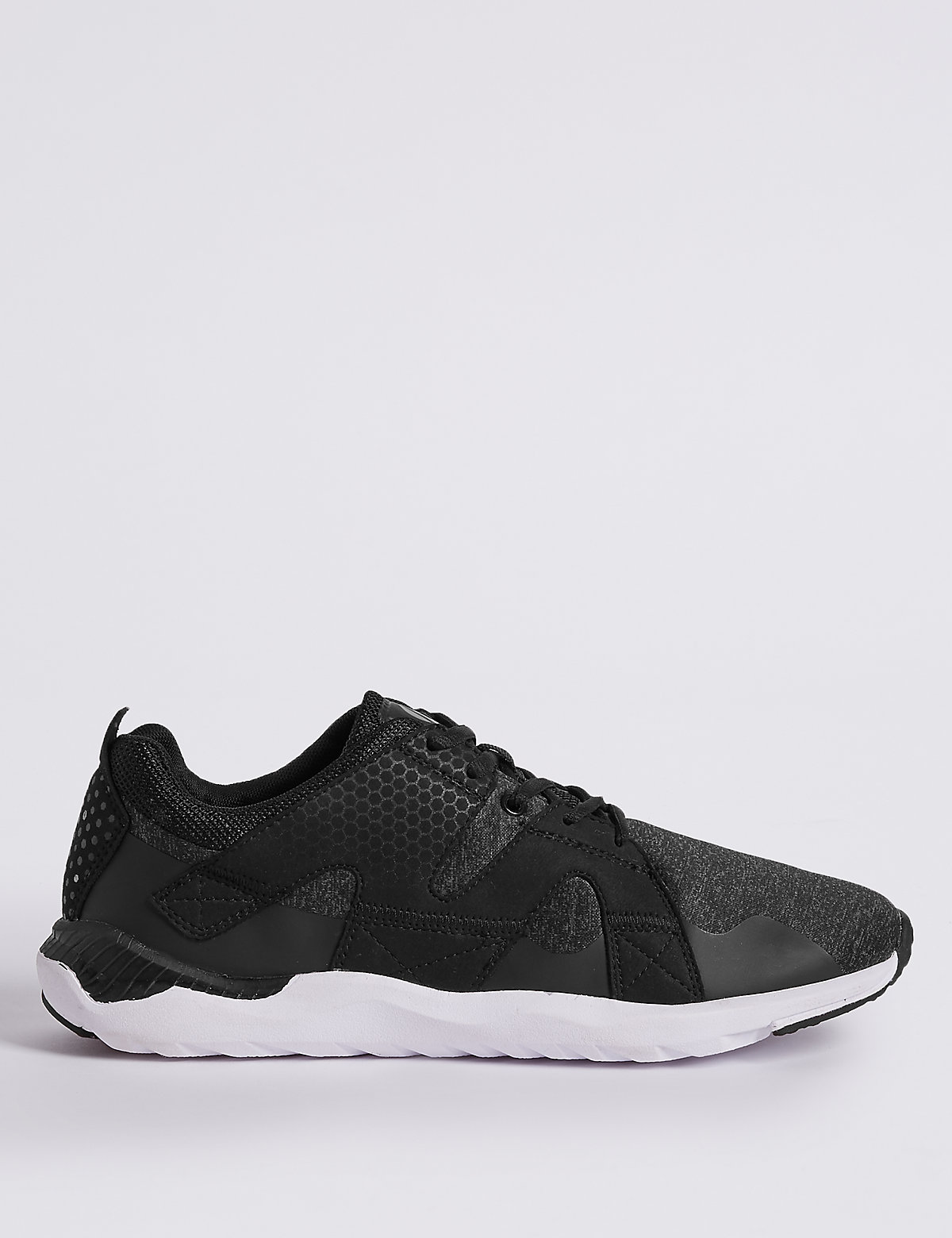 Marks & Spencer Black Lace-up Trainers