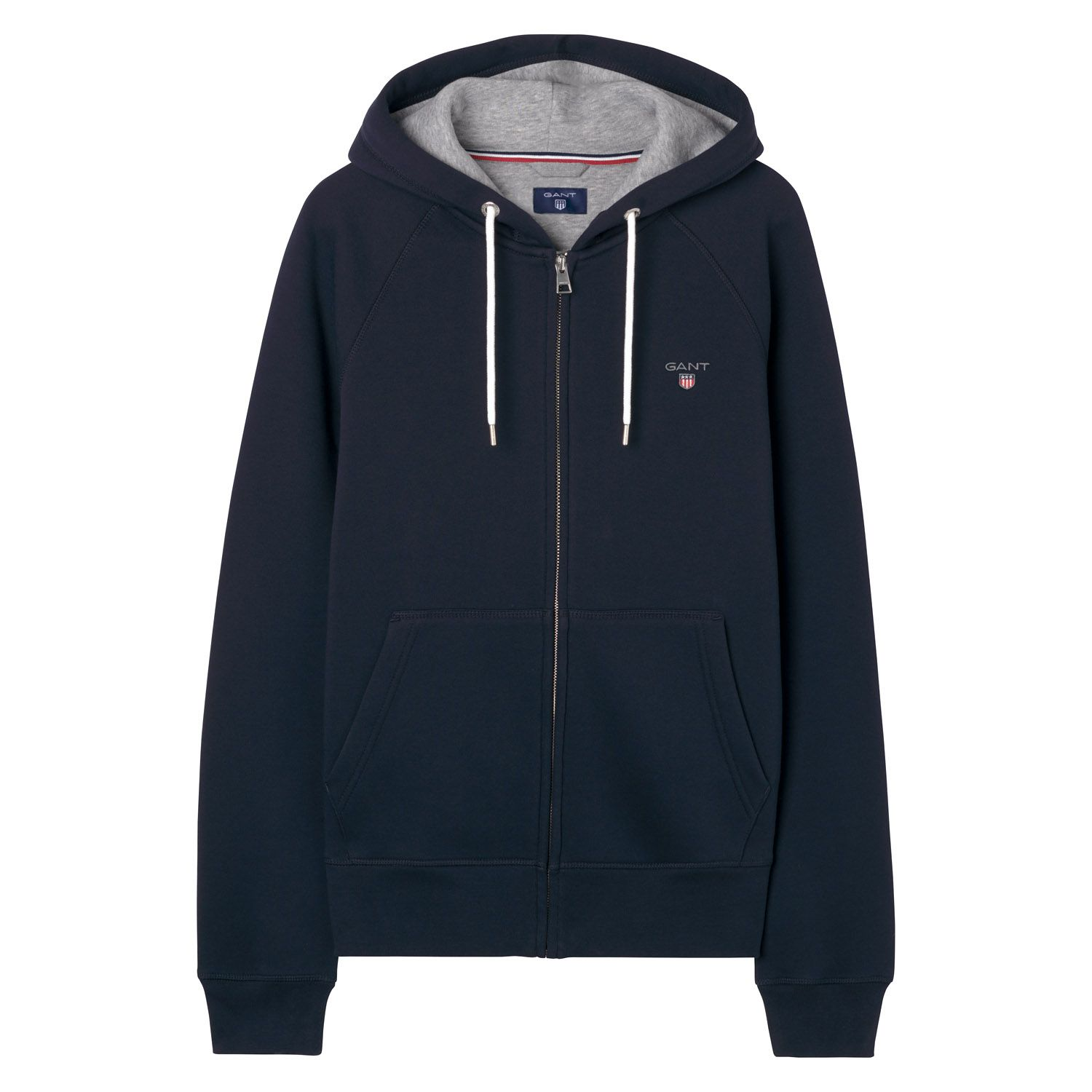 GANT Evening Blue preppy essentials Original Fullzip Sweat Hoodie