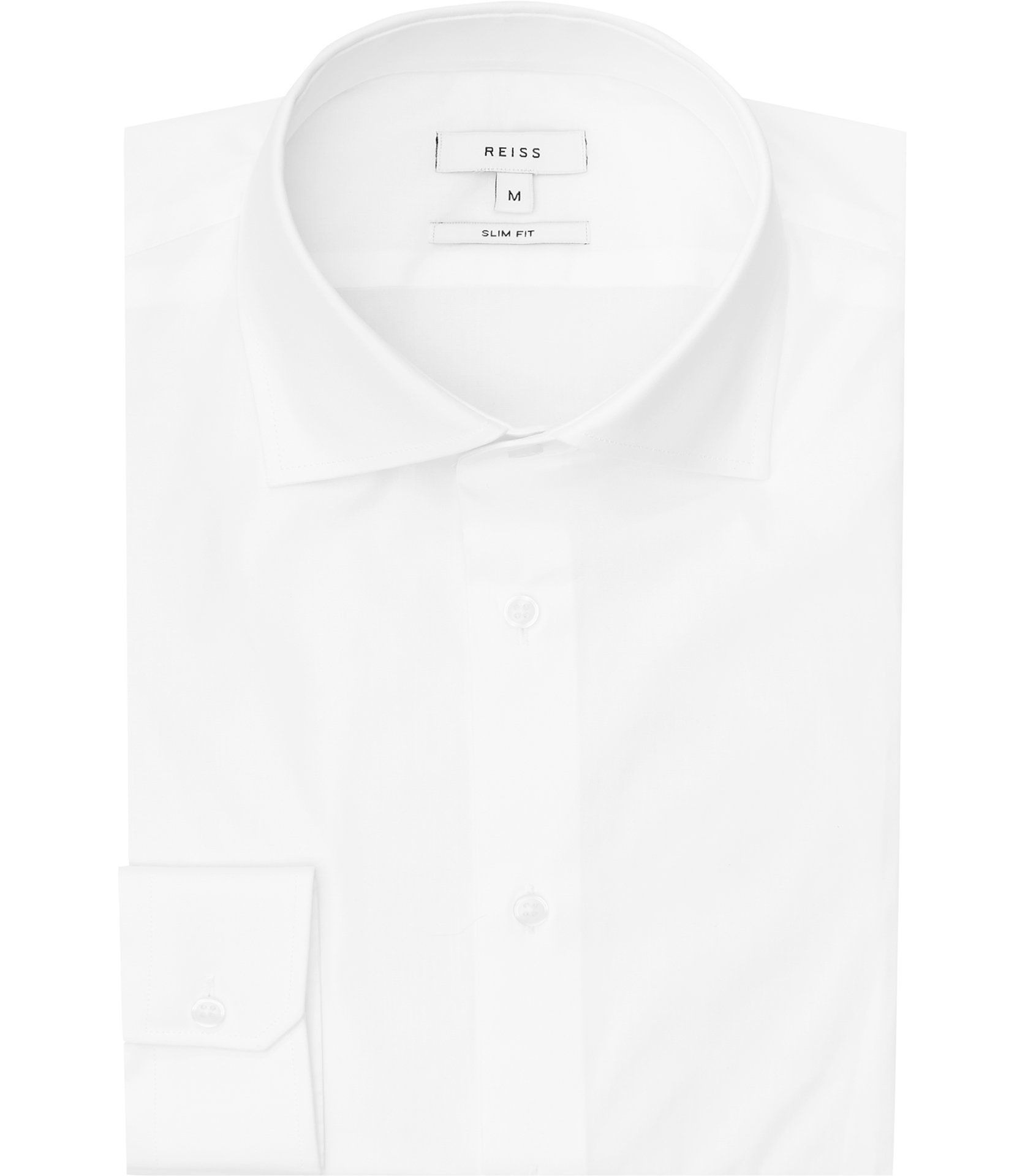 Reiss White Oxide Slim-Fit Stretch Shirt