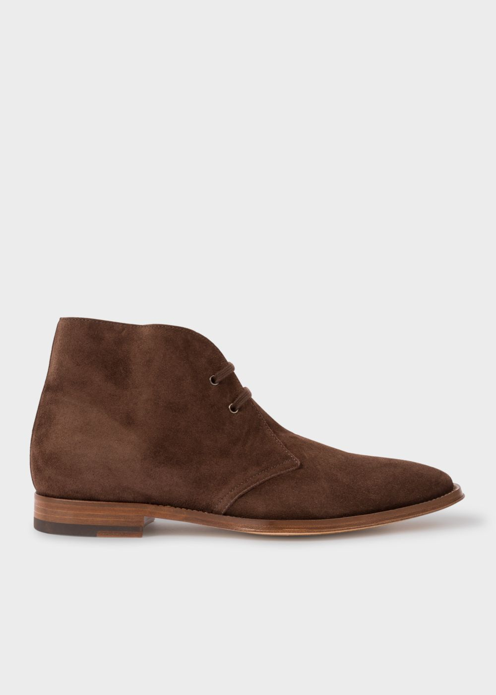 Paul Smith Men's Brown Suede 'Cash' Boots