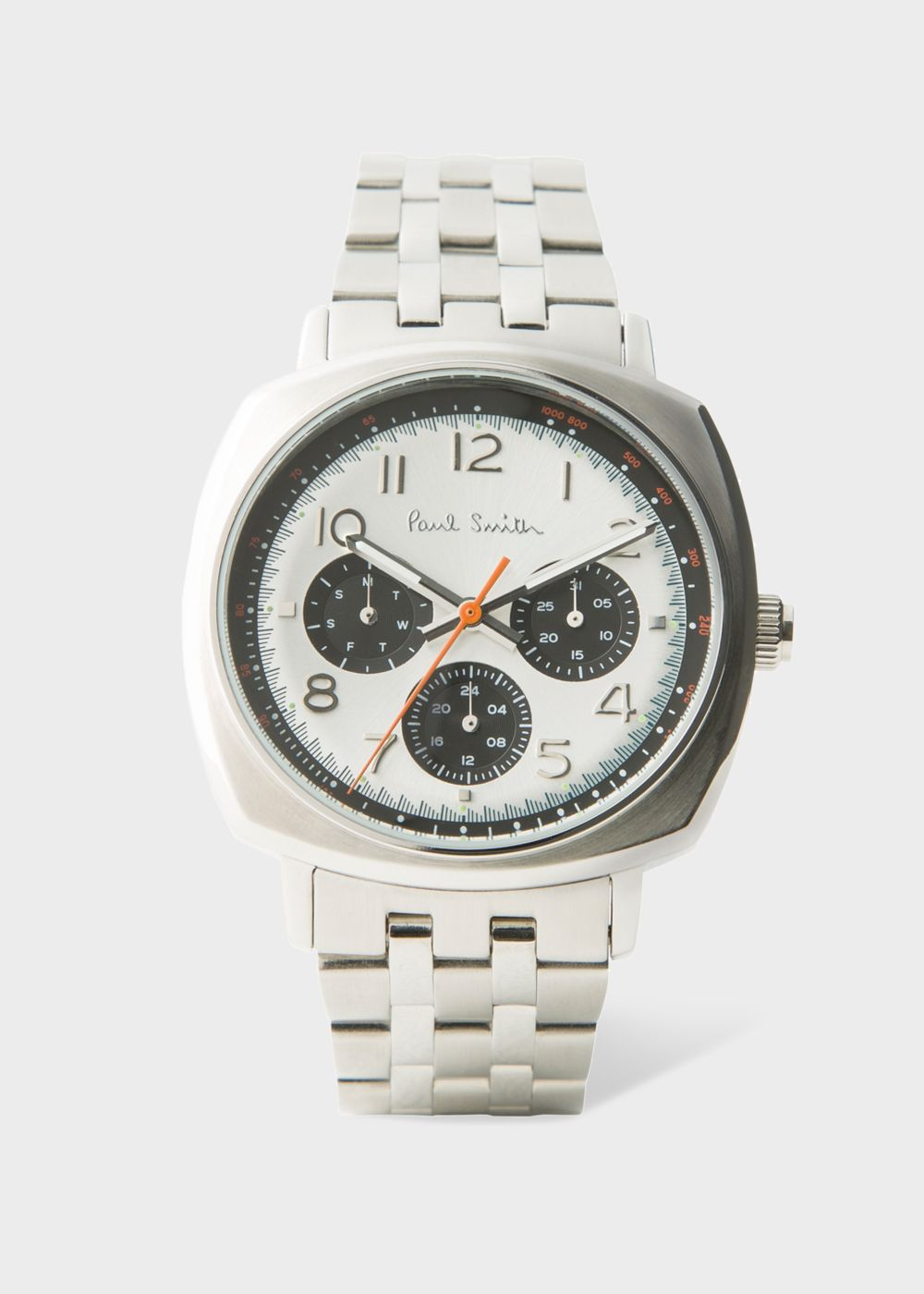 Paul Smith Men's White And Silver 'Atomic' Watch