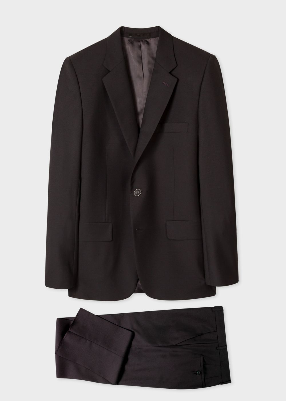 Paul Smith The Mayfair - Men's Classic-Fit Black Wool-Mohair 'Suit To Travel In'