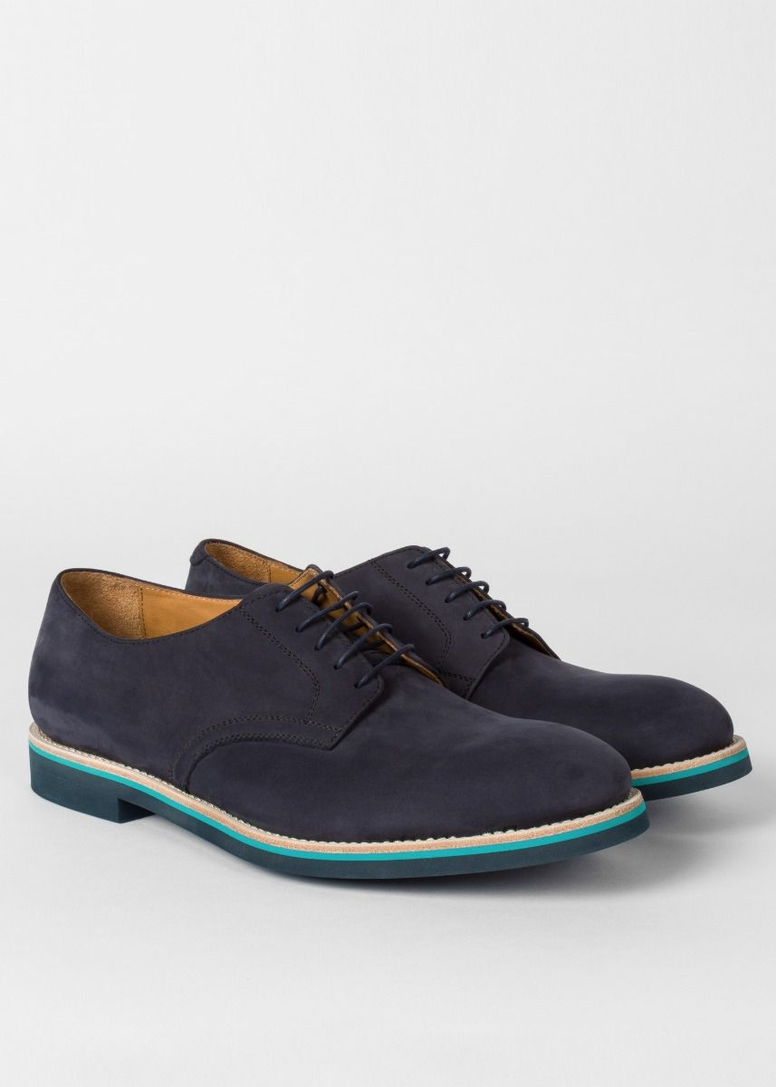 Paul Smith Men's Navy Nubuck 'Buck' Shoes