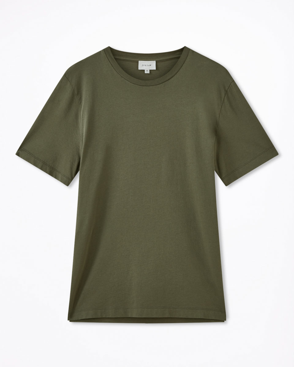 Jigsaw Fir Green Hudson Short Sleeve T-Shirt