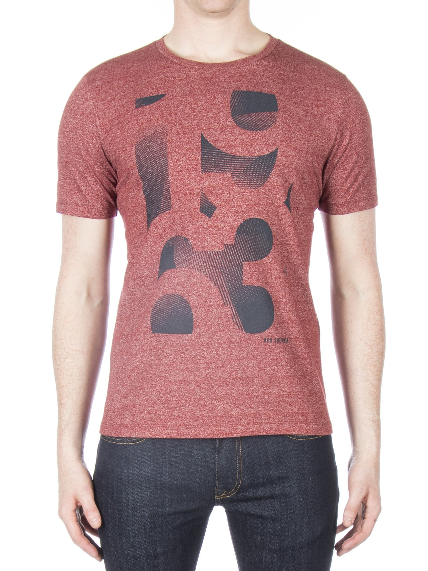 Ben Sherman Rust 1963 Grindle Print T-Shirt