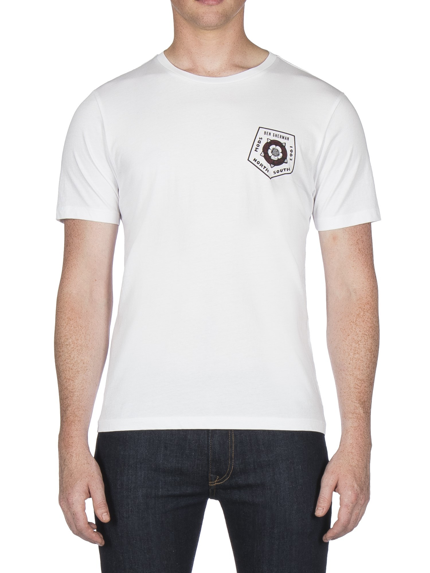 Ben Sherman White Badge Back Print T-Shirt