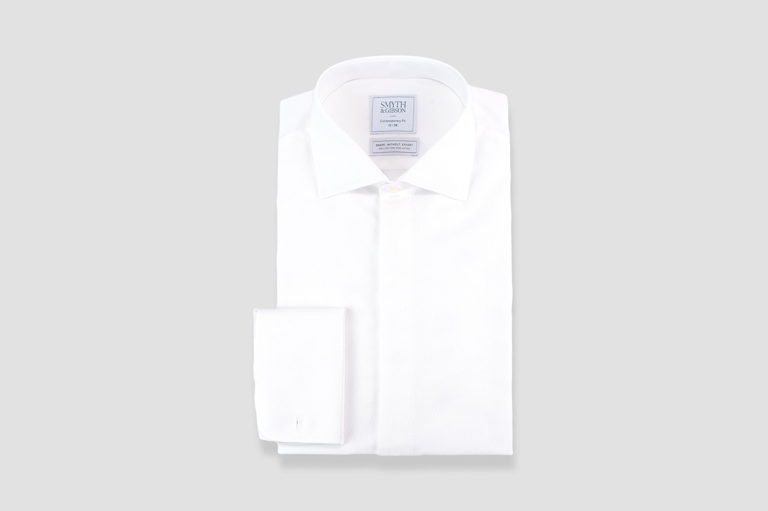 Smyth & Gibson S.W.E. Non Iron Marcella Contemporary Fit Dinner Shirt in White