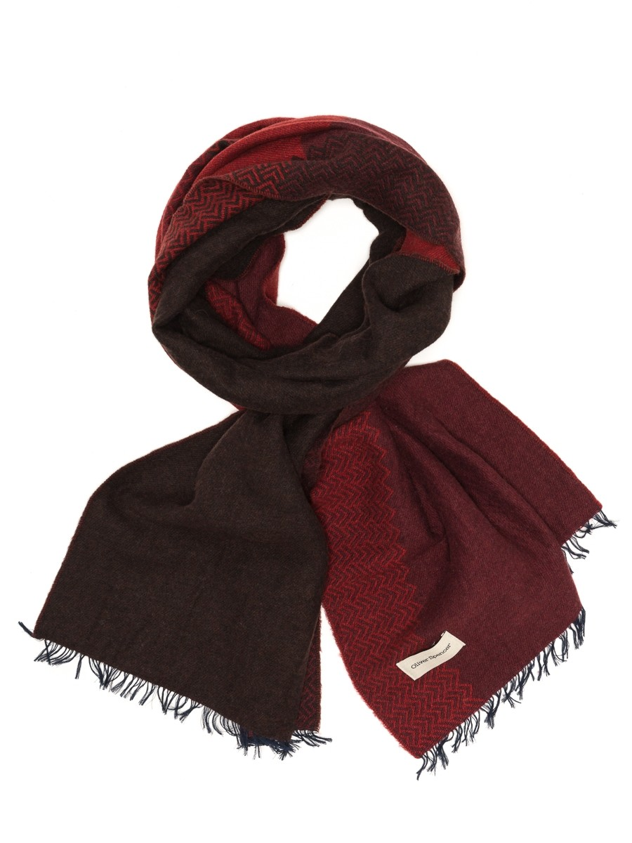 Oliver Spencer Wansfell Scarf Caldera Red