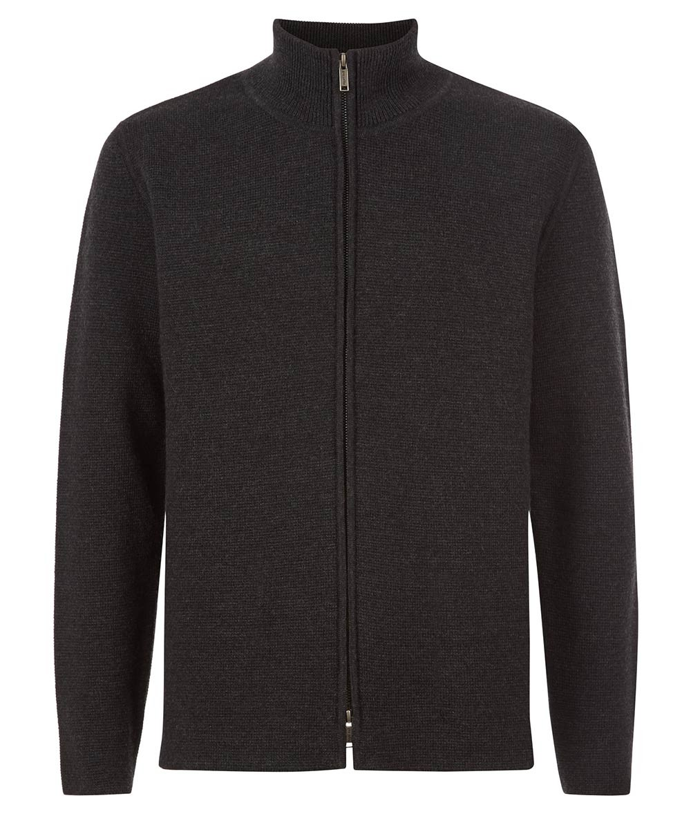 Nigel Hall Grey Zip Through Knitted Jacket - Hunter
